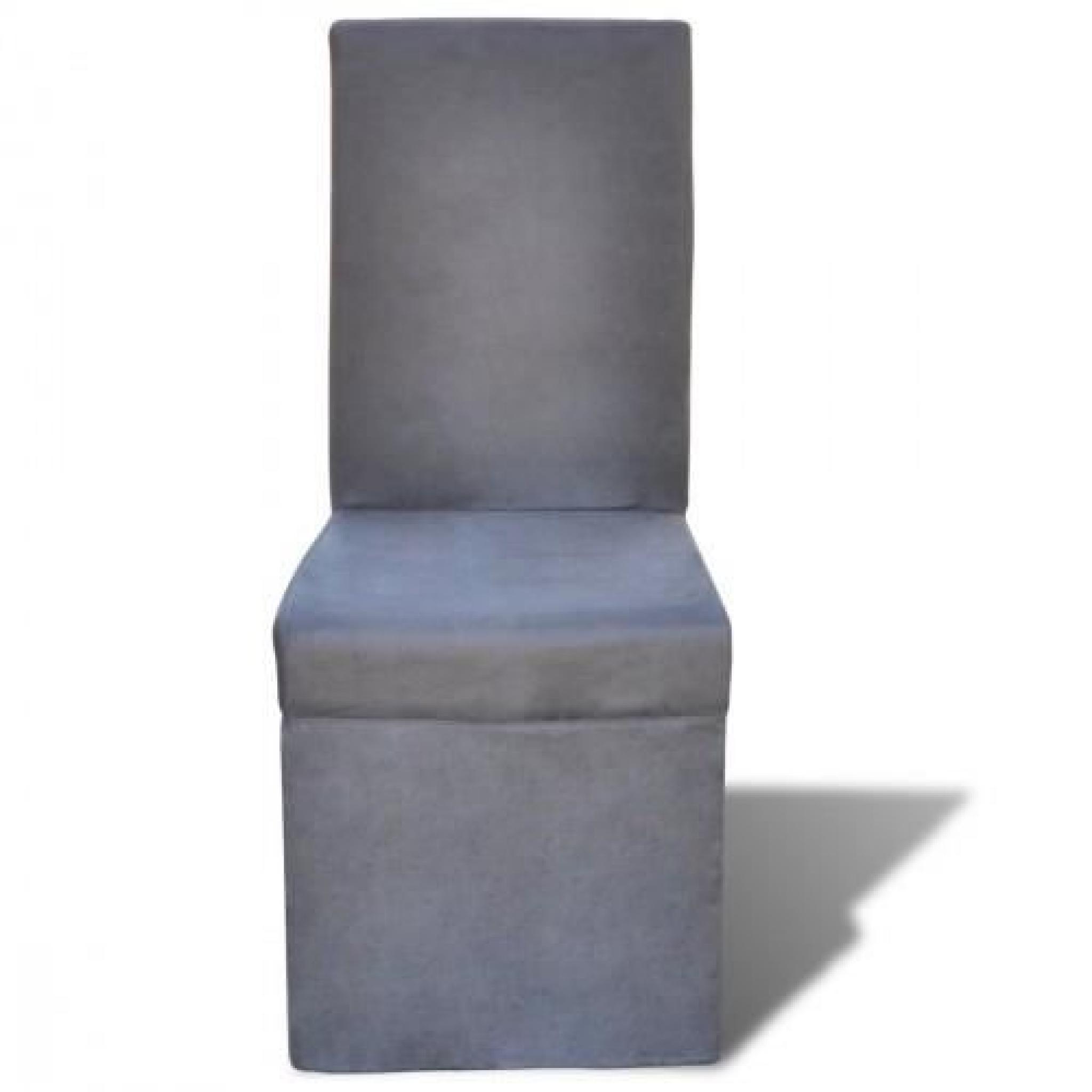 Chaise de salle à manger Gris foncé 6 pcs - Achat/Vente chaise salle ...