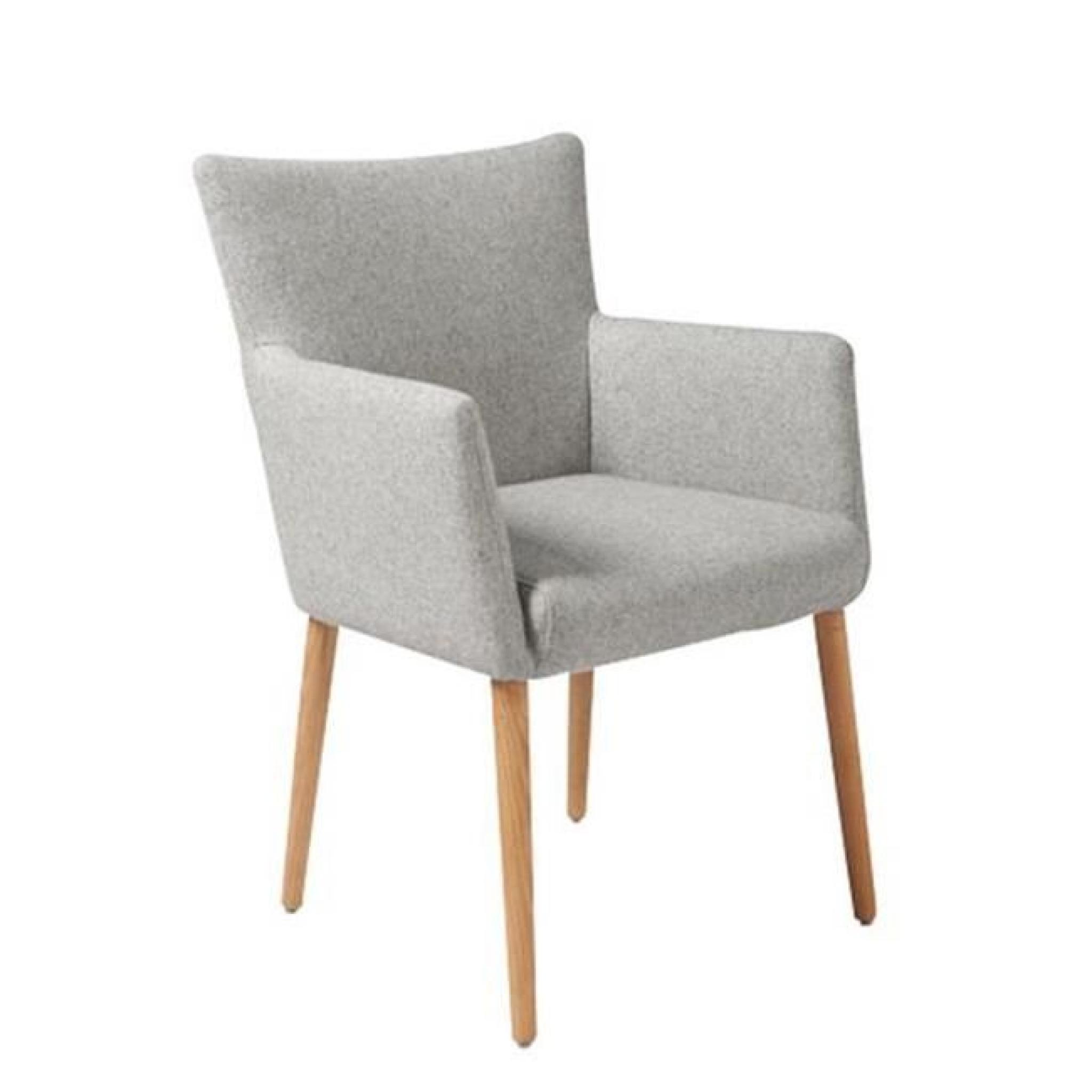 Chaise de salle à manger NELLIE en tissu avec acco - Achat/Vente ...