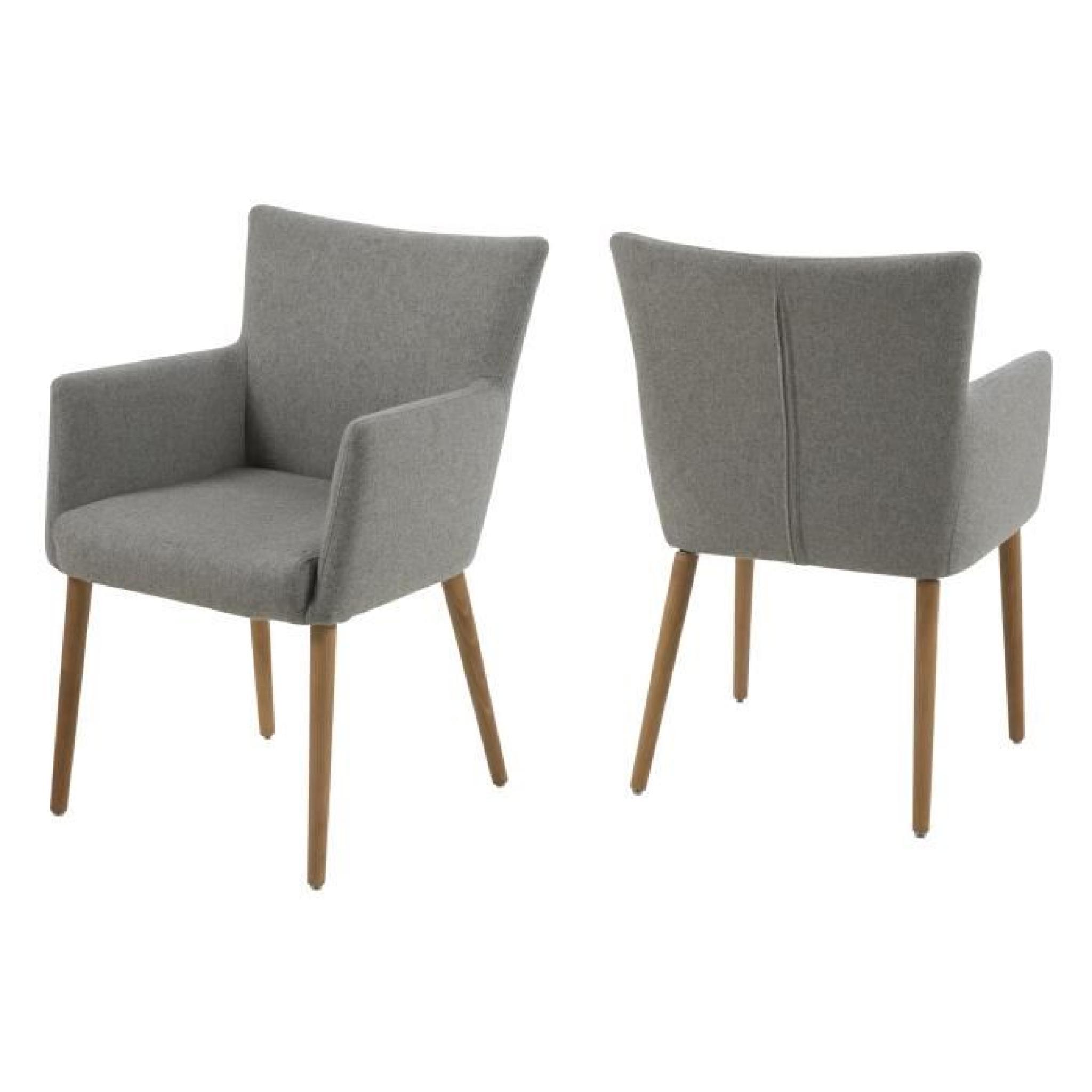 Chaise de salle manger nellie en tissu avec acco achat for Table de salle a manger avec chaise pas cher