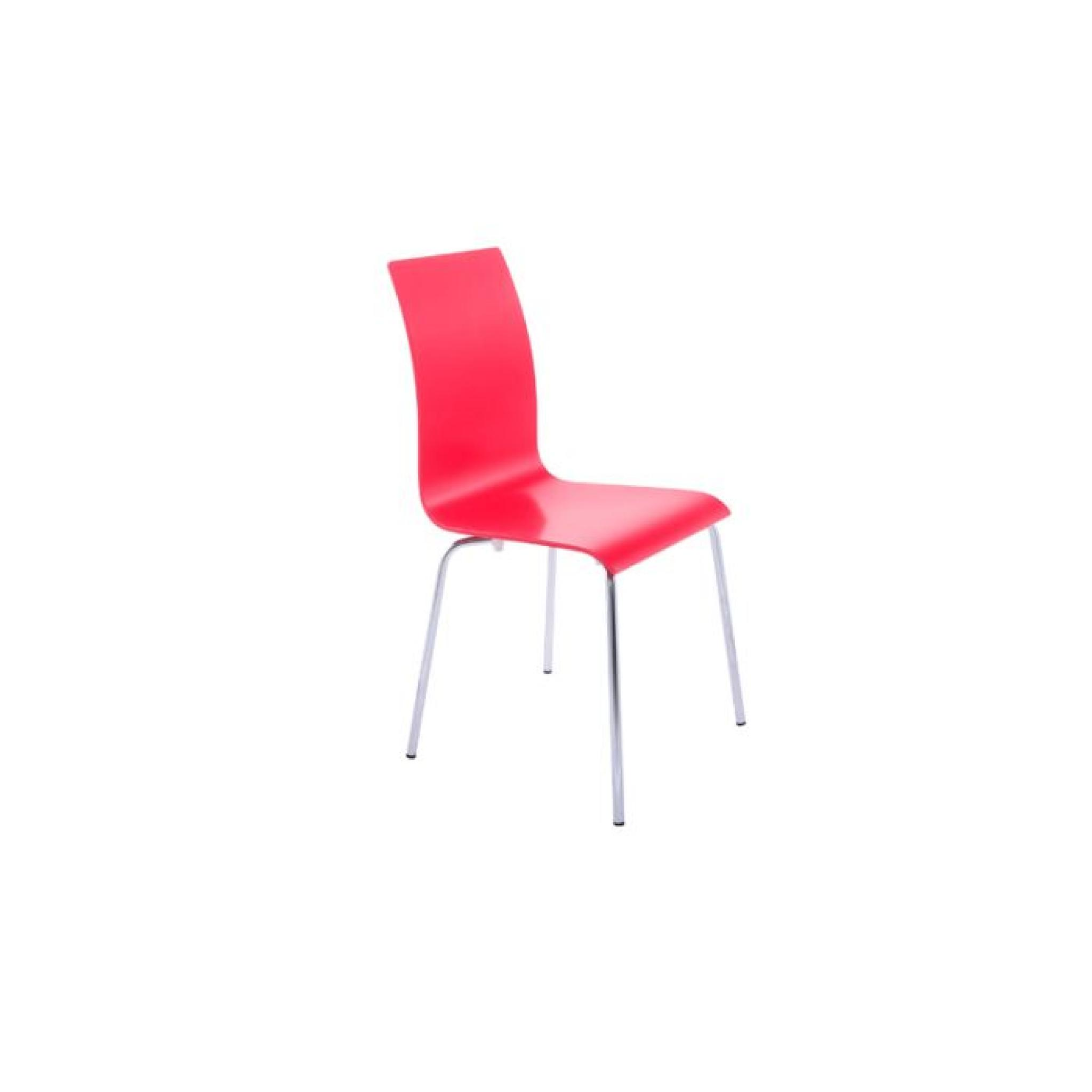 Chaise design AMAZONE Rouge pas cher