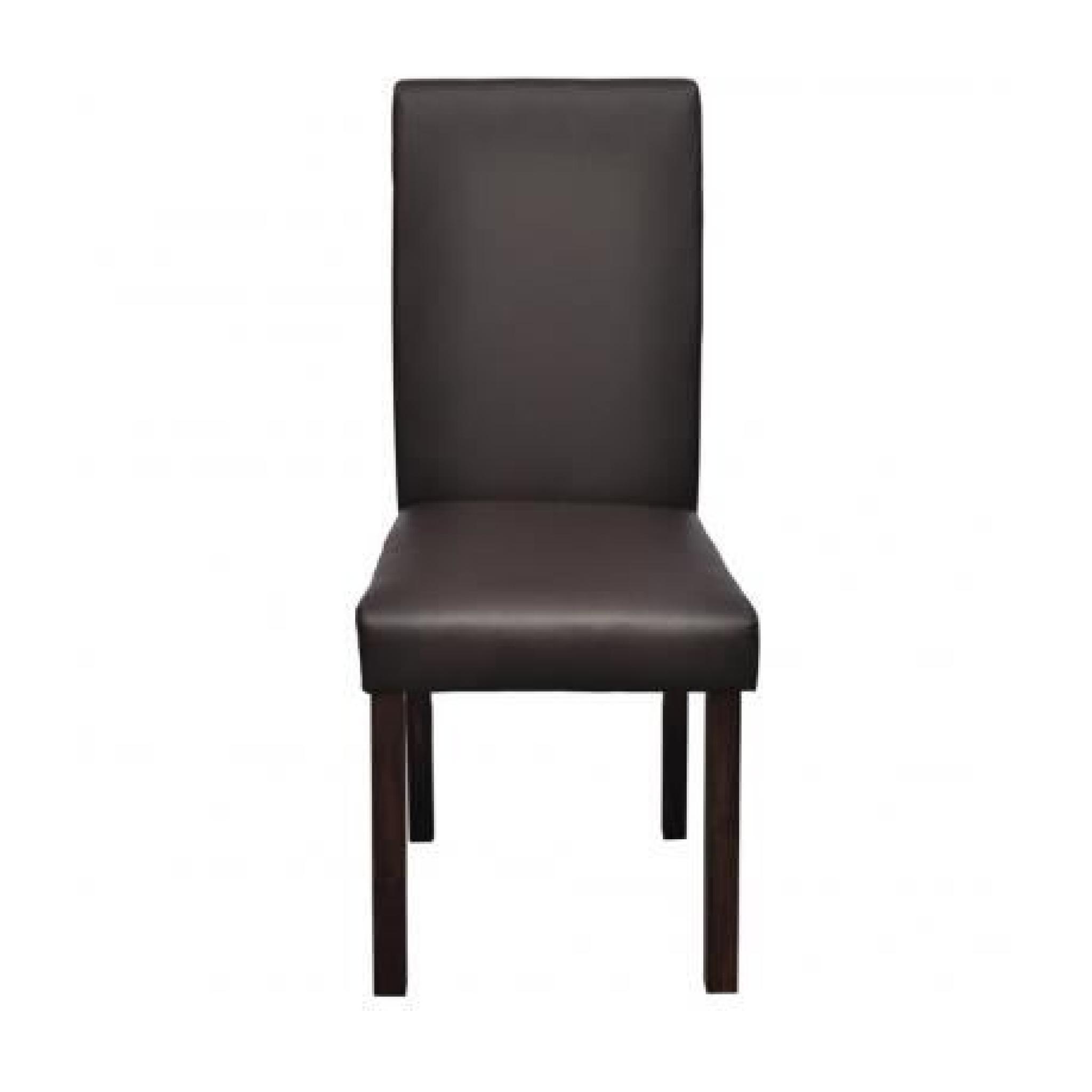 Chaise design classique marron lot de 2 achat vente for Chaise marron pas cher