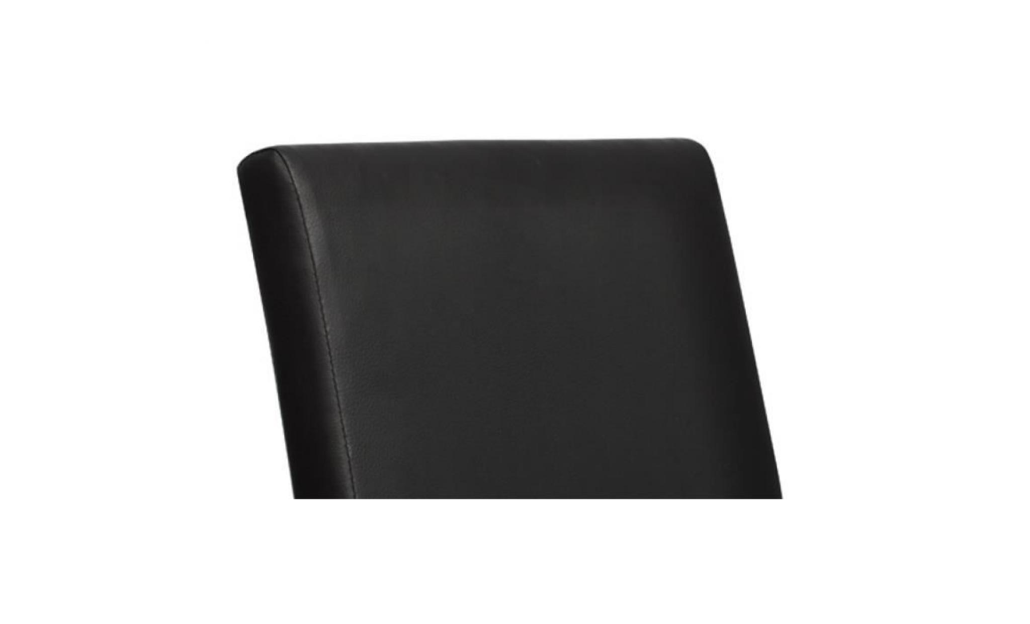 Chaise design classique noire lot de 4 achat vente for Chaise salle manger pas cher lot 4