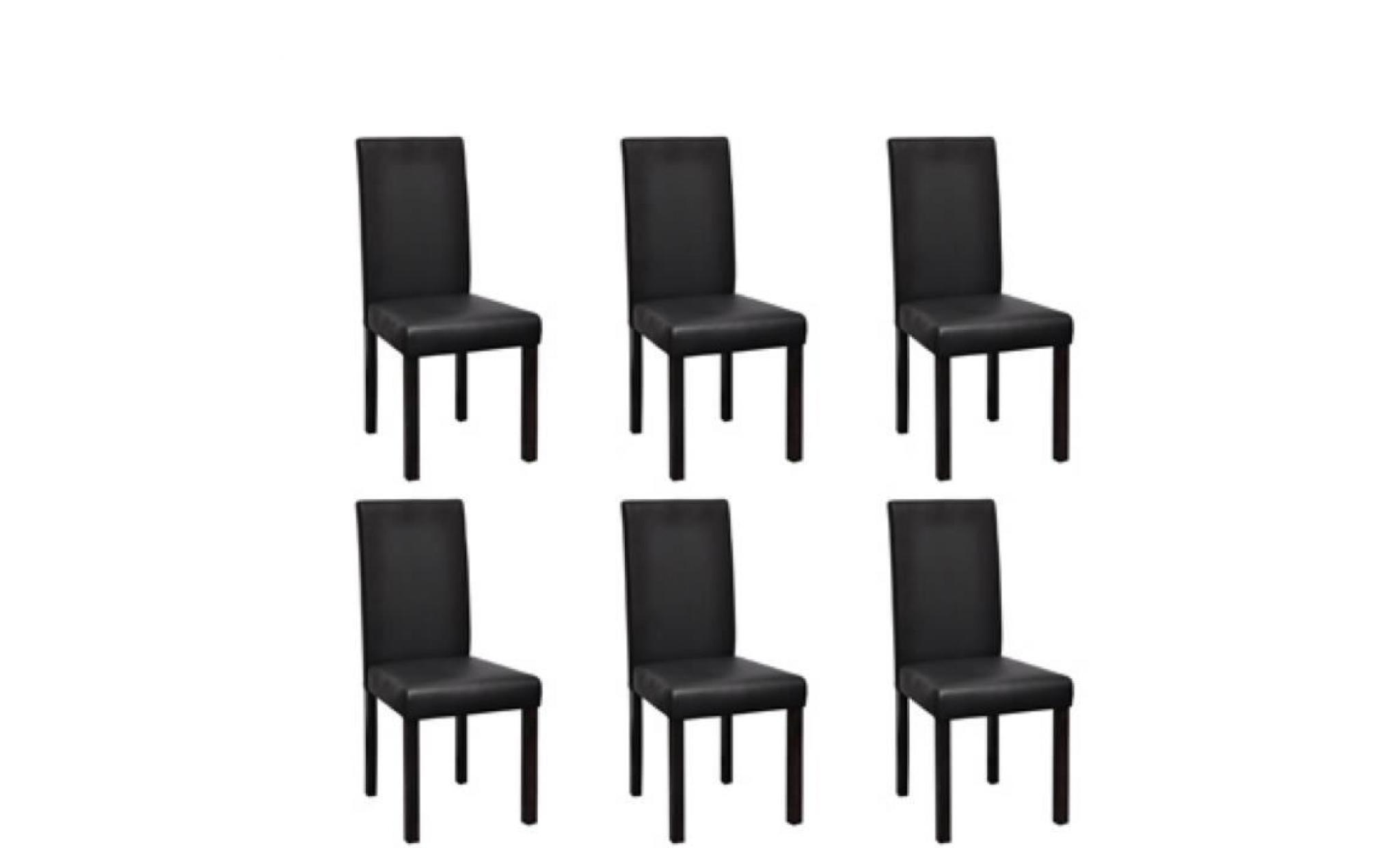 chaise design colonial noire lot de 6 achat vente. Black Bedroom Furniture Sets. Home Design Ideas