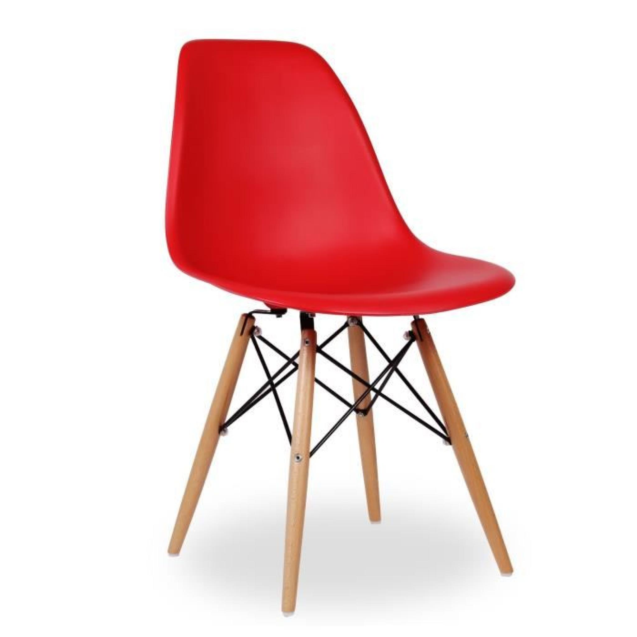 Chaise Design DSW ROUGE