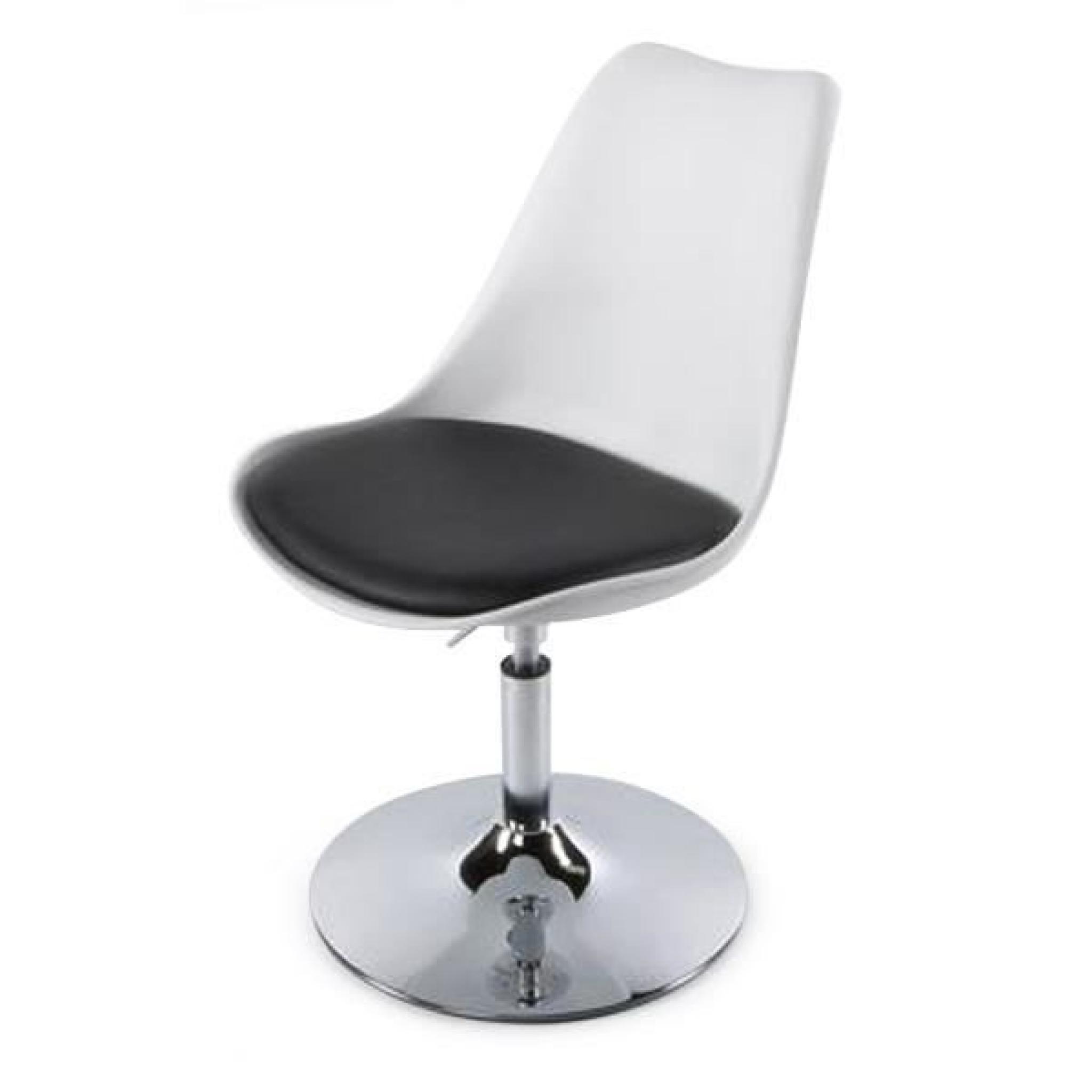chaise design en polyur thane de couleur blanch achat vente chaise salle a manger pas cher. Black Bedroom Furniture Sets. Home Design Ideas