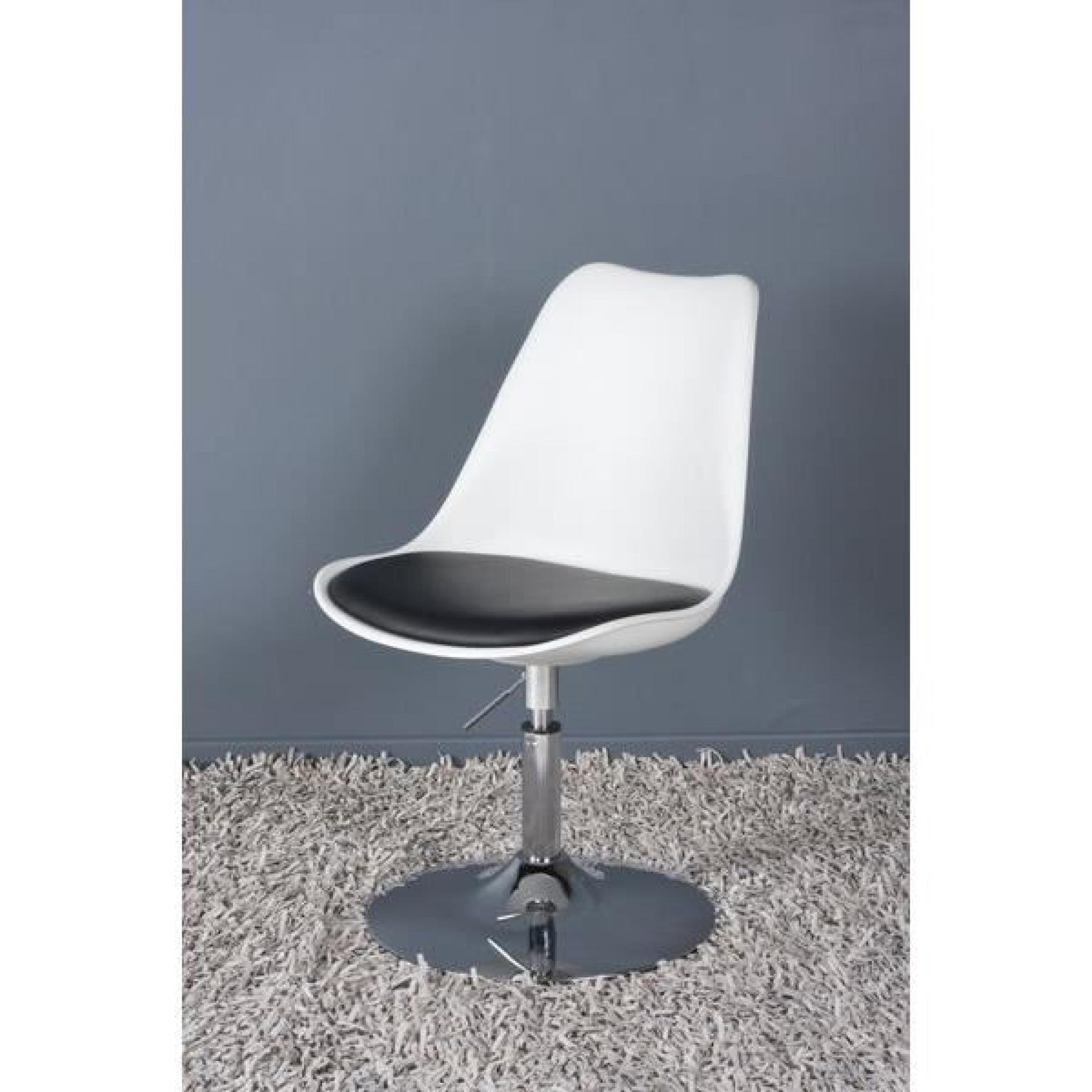 Chaise design en polyur thane de couleur blanch achat for Chaise couleur design pas cher
