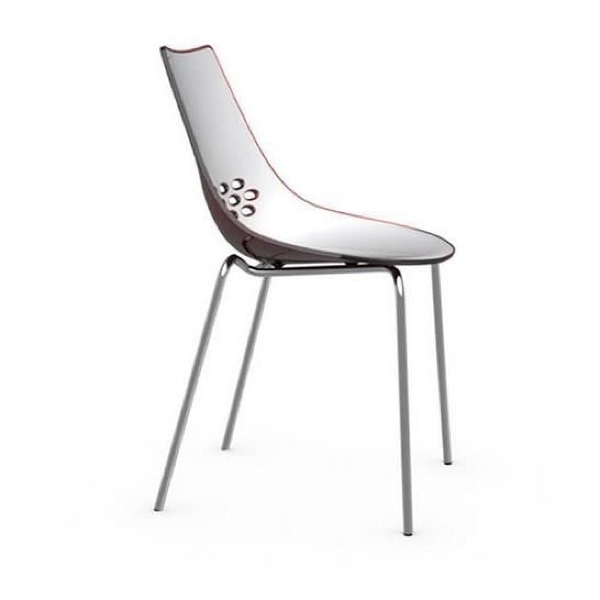 chaise design jam blanche brillante et rouge transparent de calligaris achat vente chaise. Black Bedroom Furniture Sets. Home Design Ideas