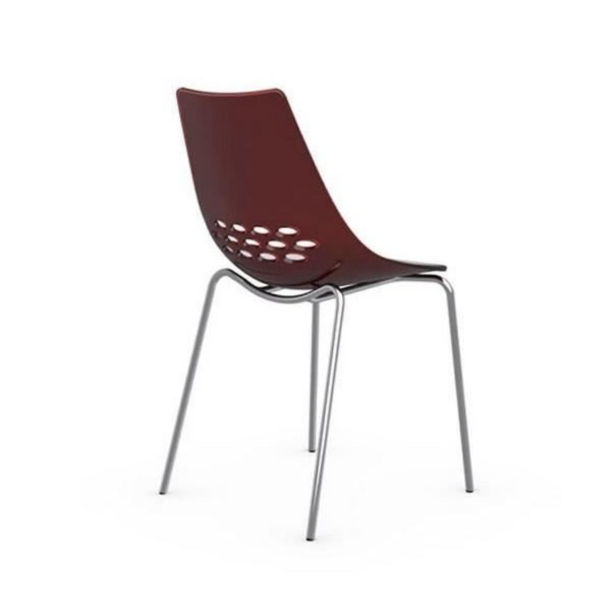 Chaise design jam blanche brillante et rouge transparent - Chaise cuisine design pas cher ...