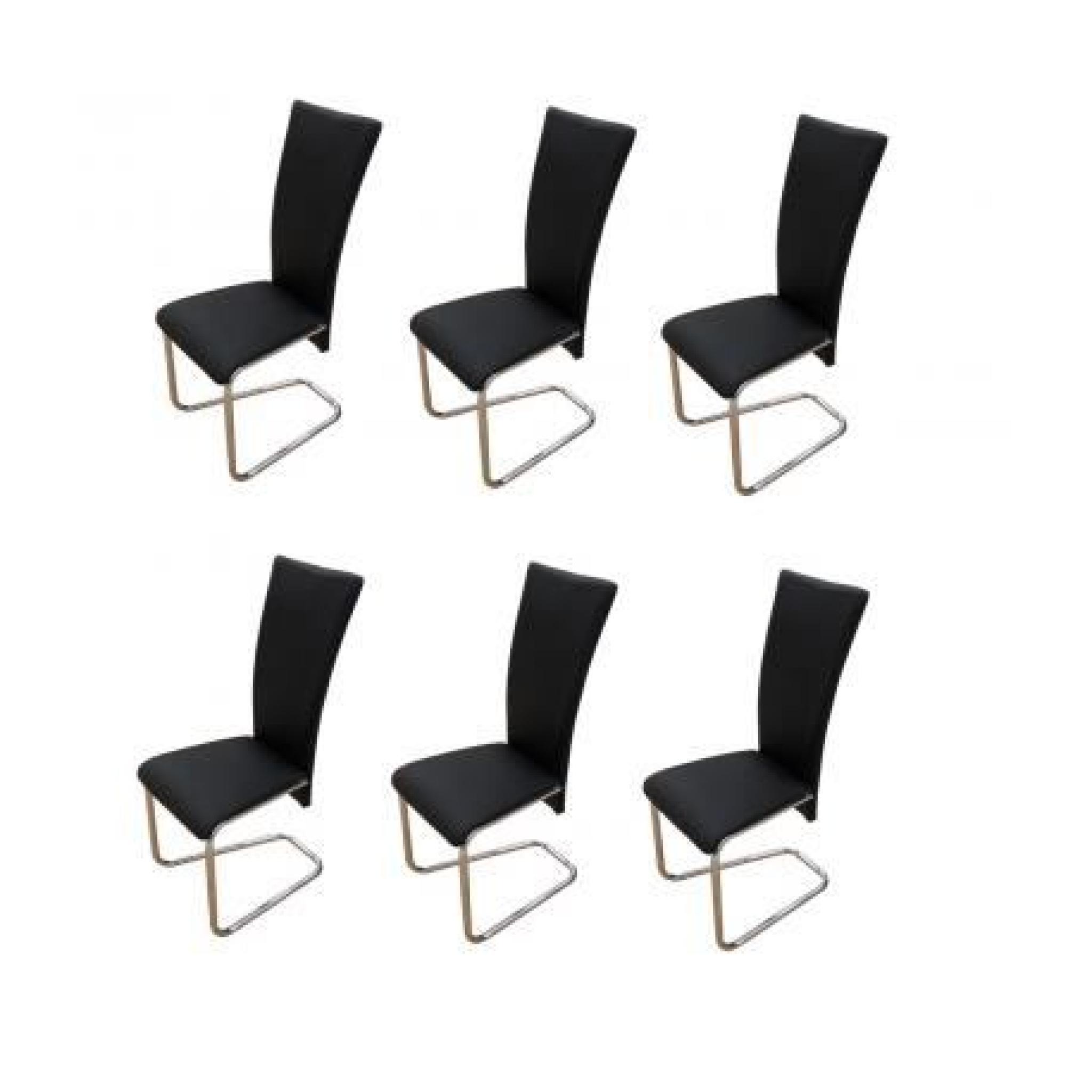 chaise design m tal noire lot de 6 achat vente chaise salle a manger pas cher couleur et. Black Bedroom Furniture Sets. Home Design Ideas
