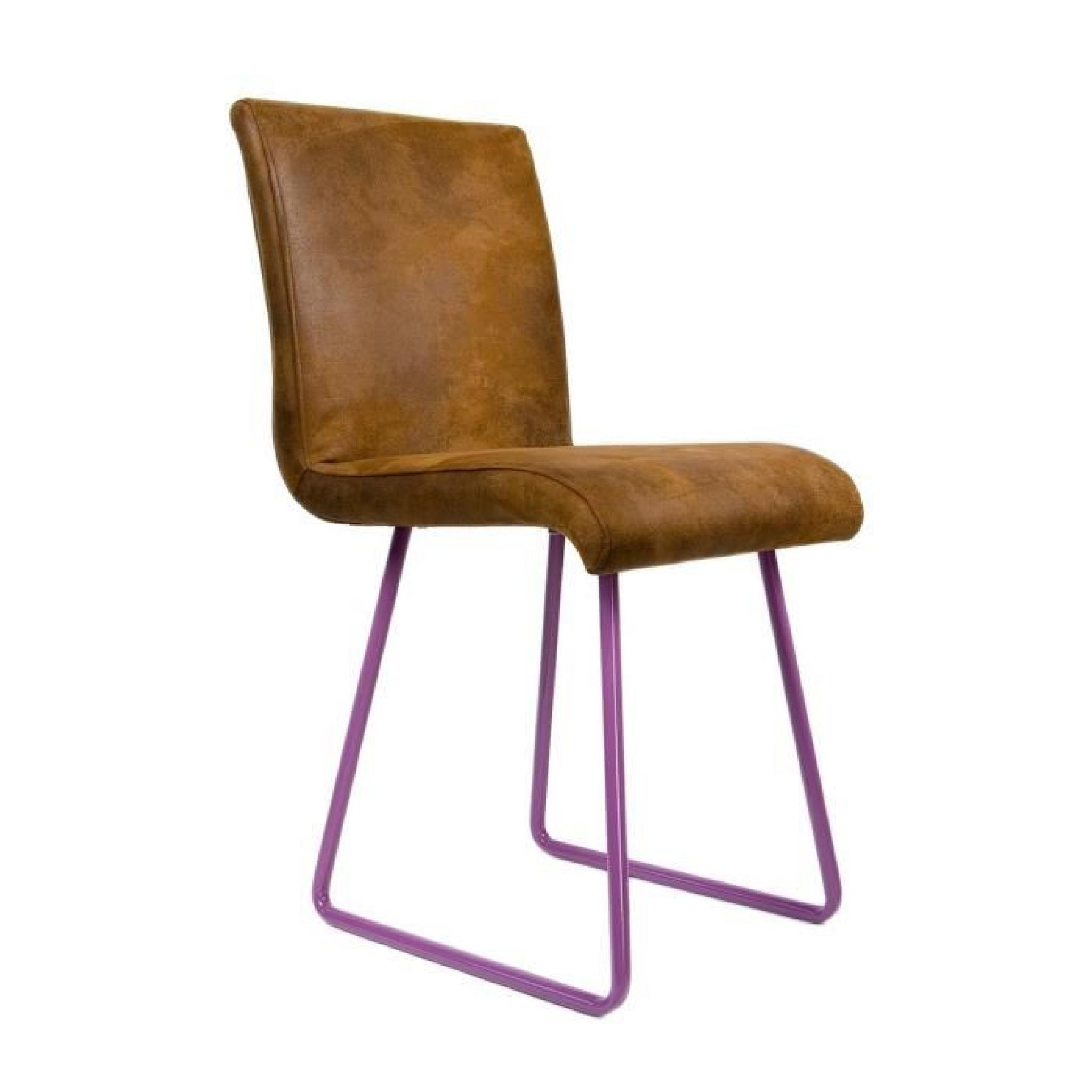 Chaise design mews atylia couleur violet achat vente for Chaise couleur design pas cher
