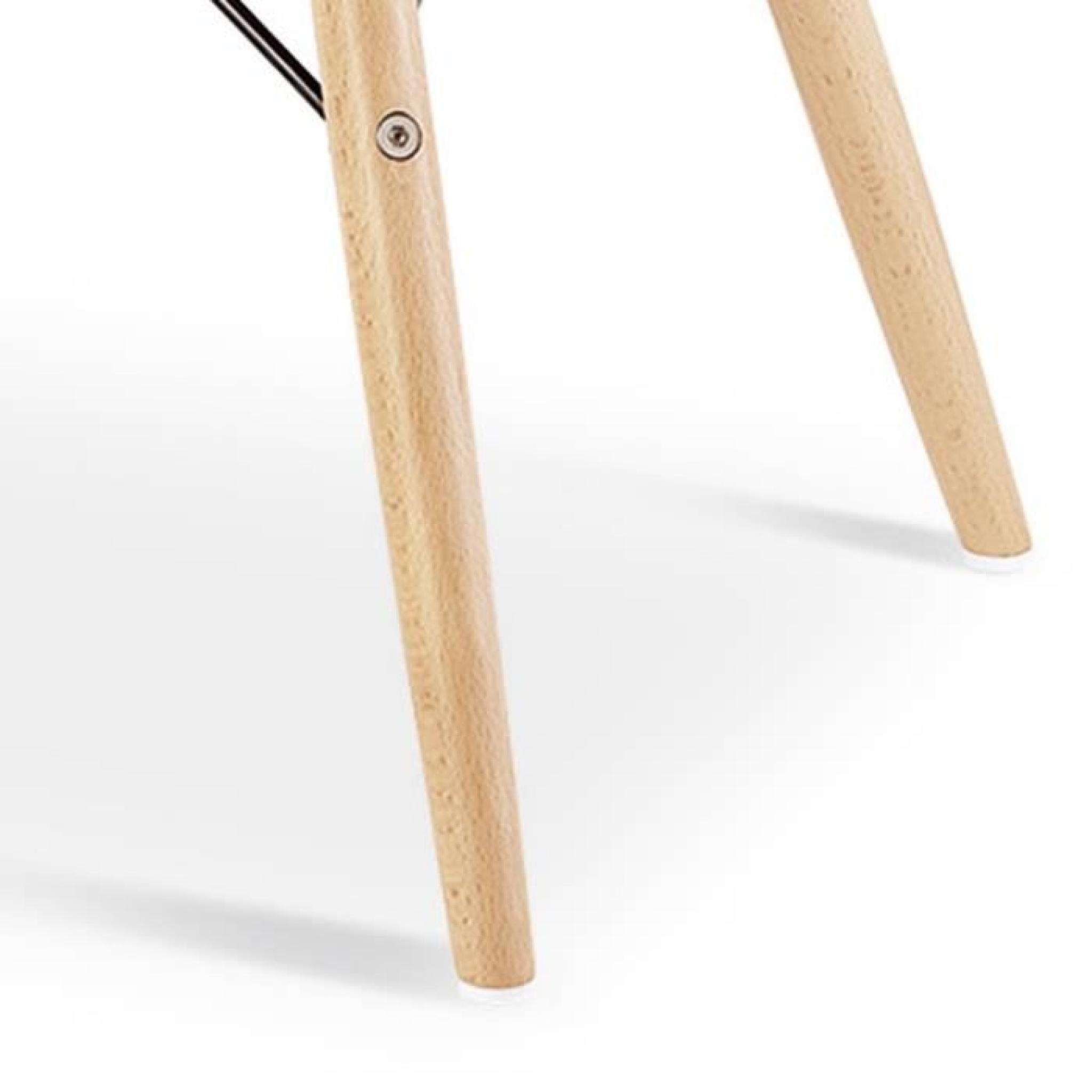 Chaise design ophir rouge pied en bois achat vente - Chaise en bois pas cher ...