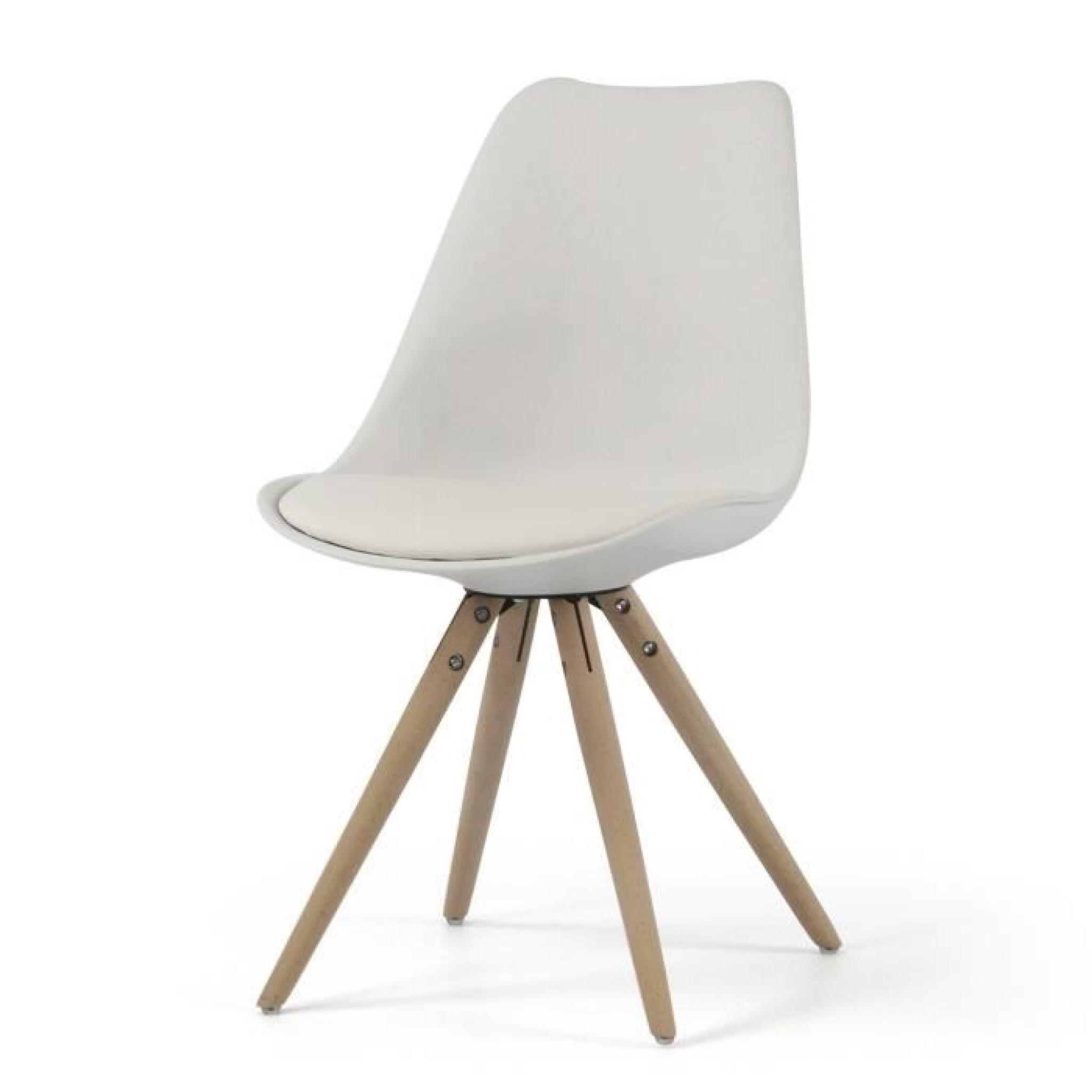 Chaise Design Plush Blanc ATYLIA Couleur