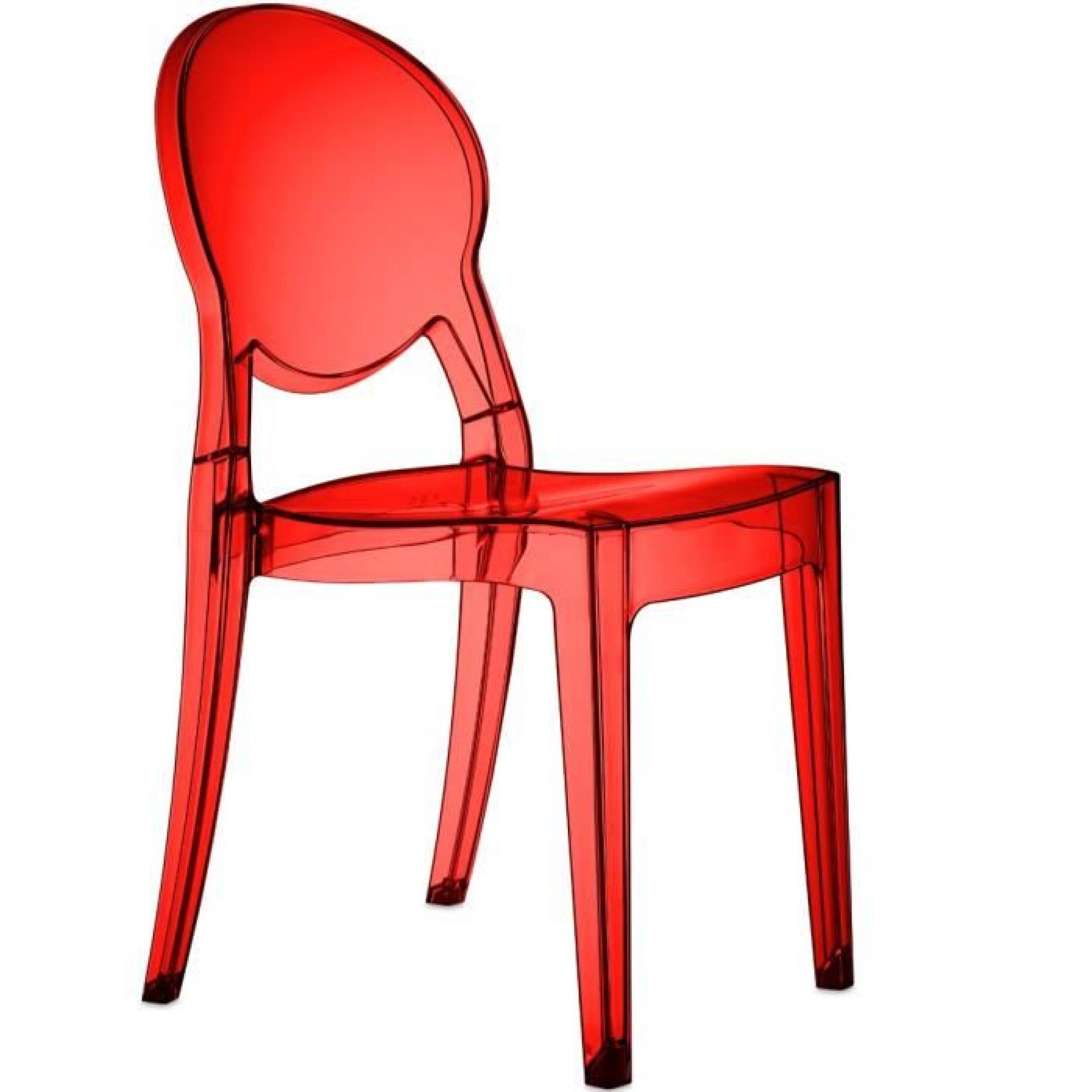 Chaise Design Rgence Rouge Couleur Matire Polycarbonate