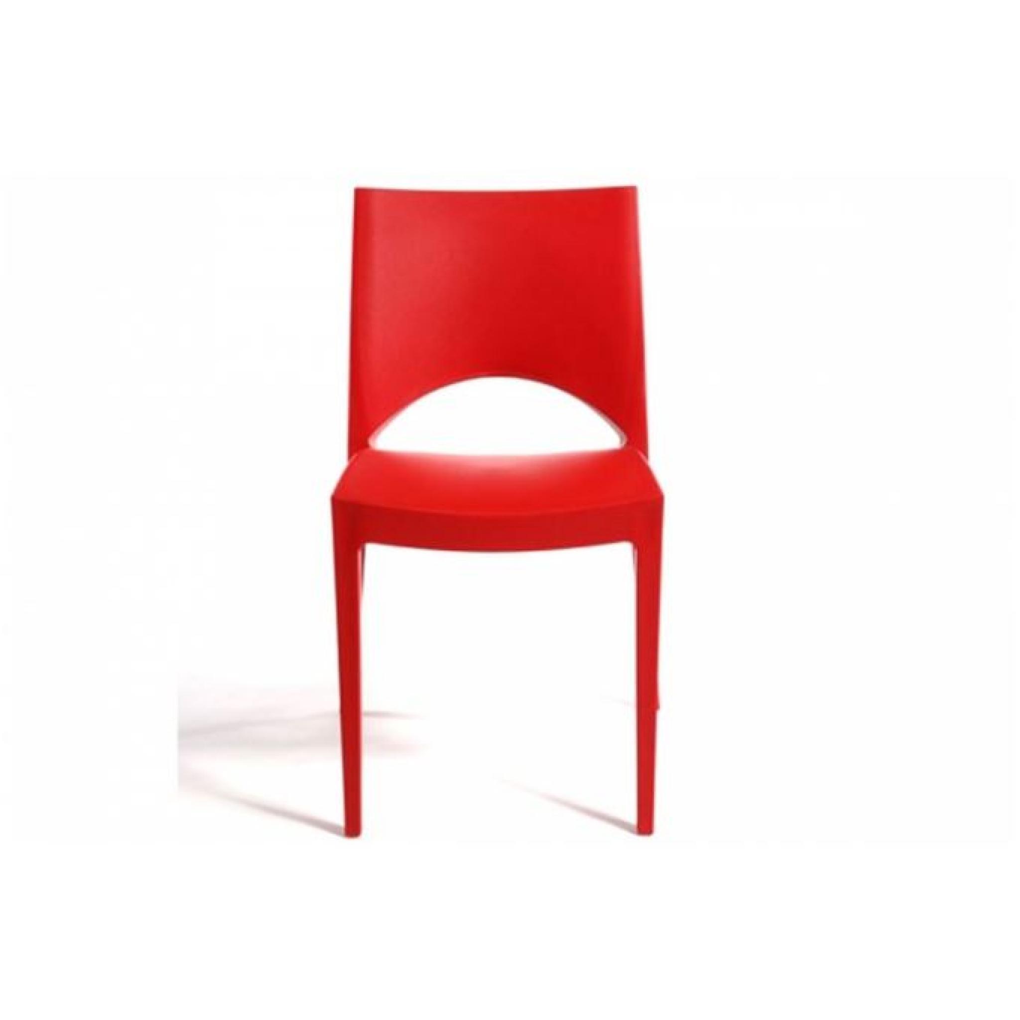 Chaise Design Rouge Venise Pas Cher