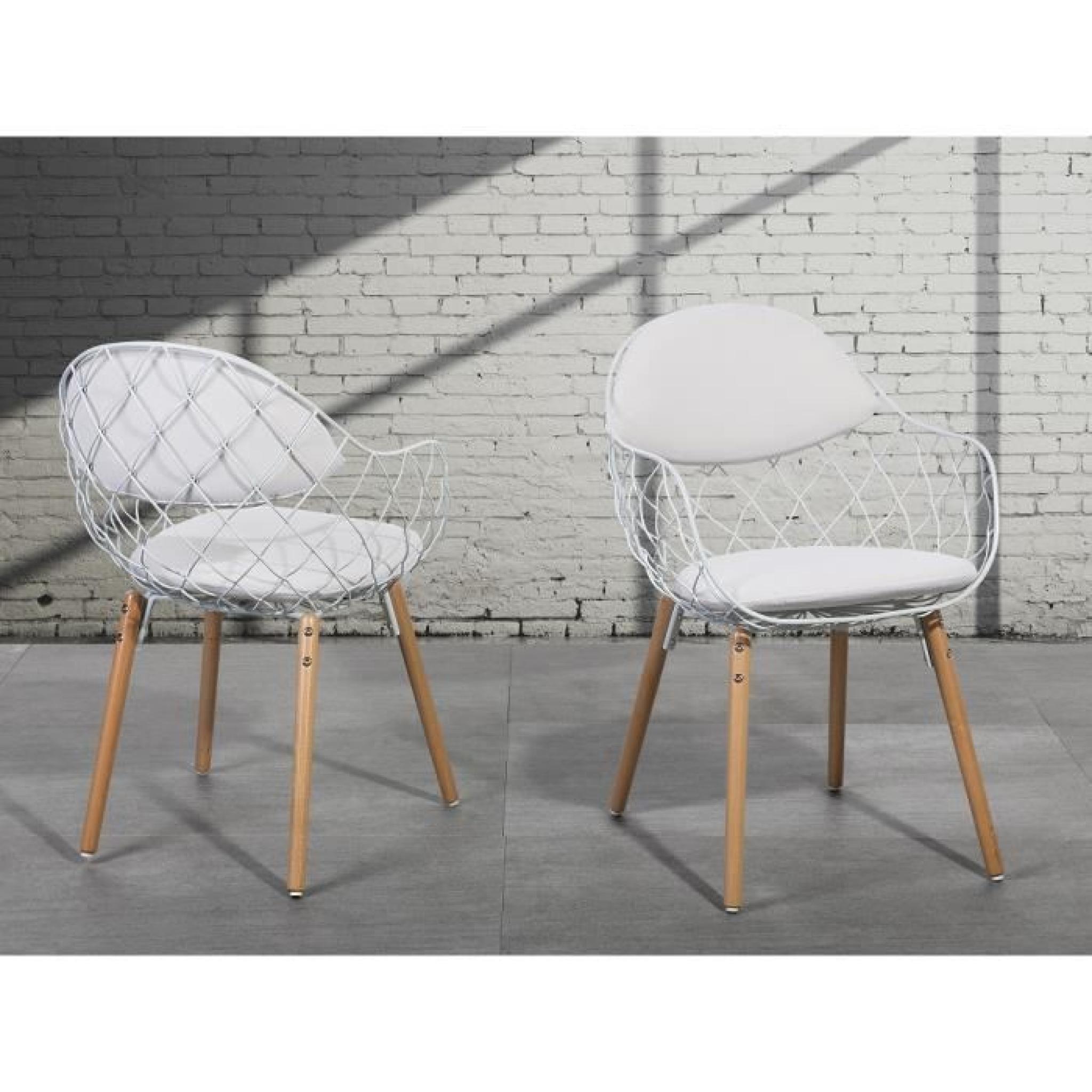 design métal Chaise Metropolitan siège blanc en QoCeErdWxB