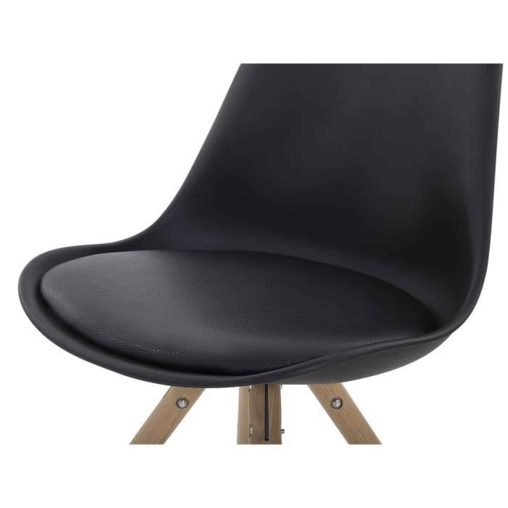 chaise design sige en plastique noir moca pas cher - Chaise Design Plastique