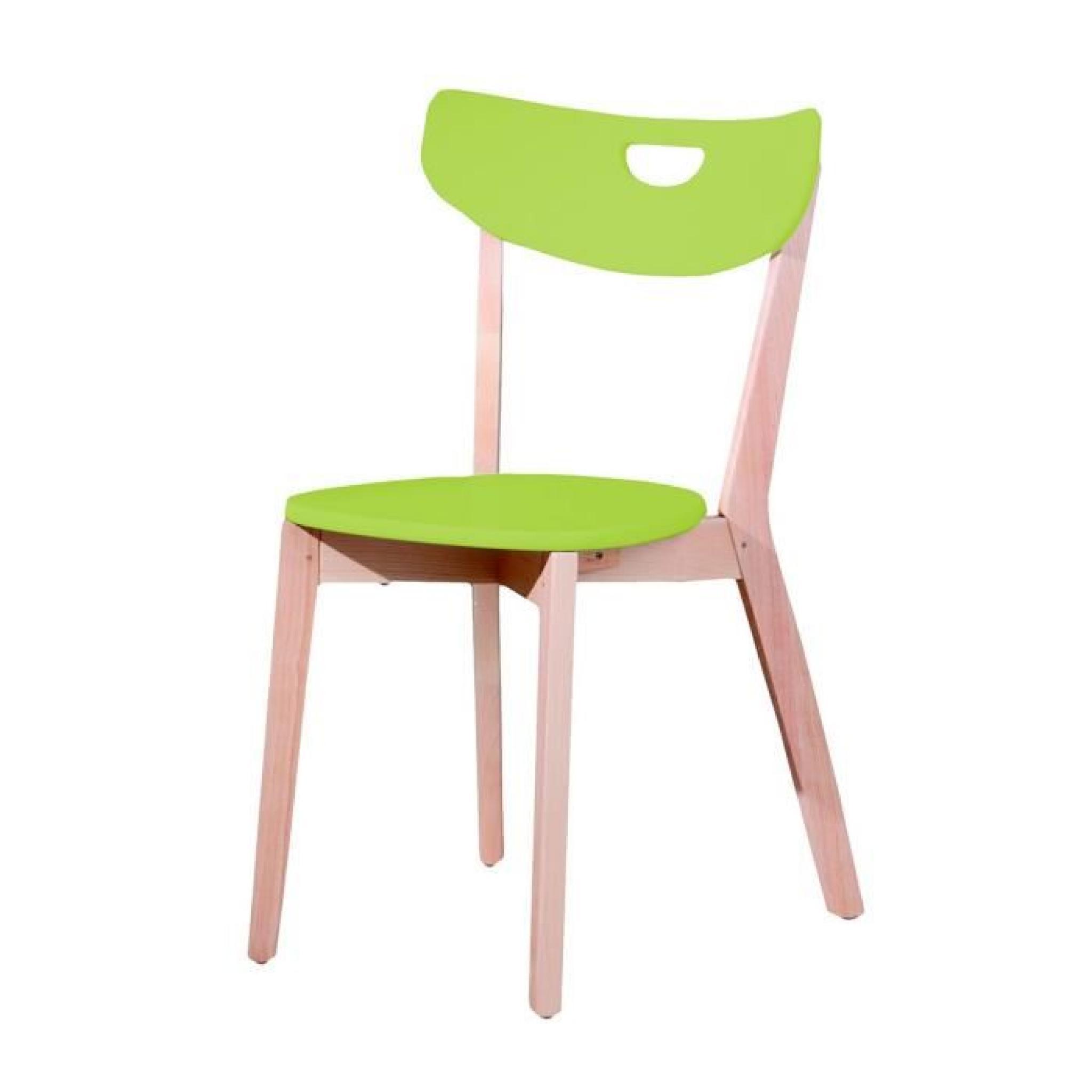Chaise Design Verte Scandi ATYLIA Couleur Vert