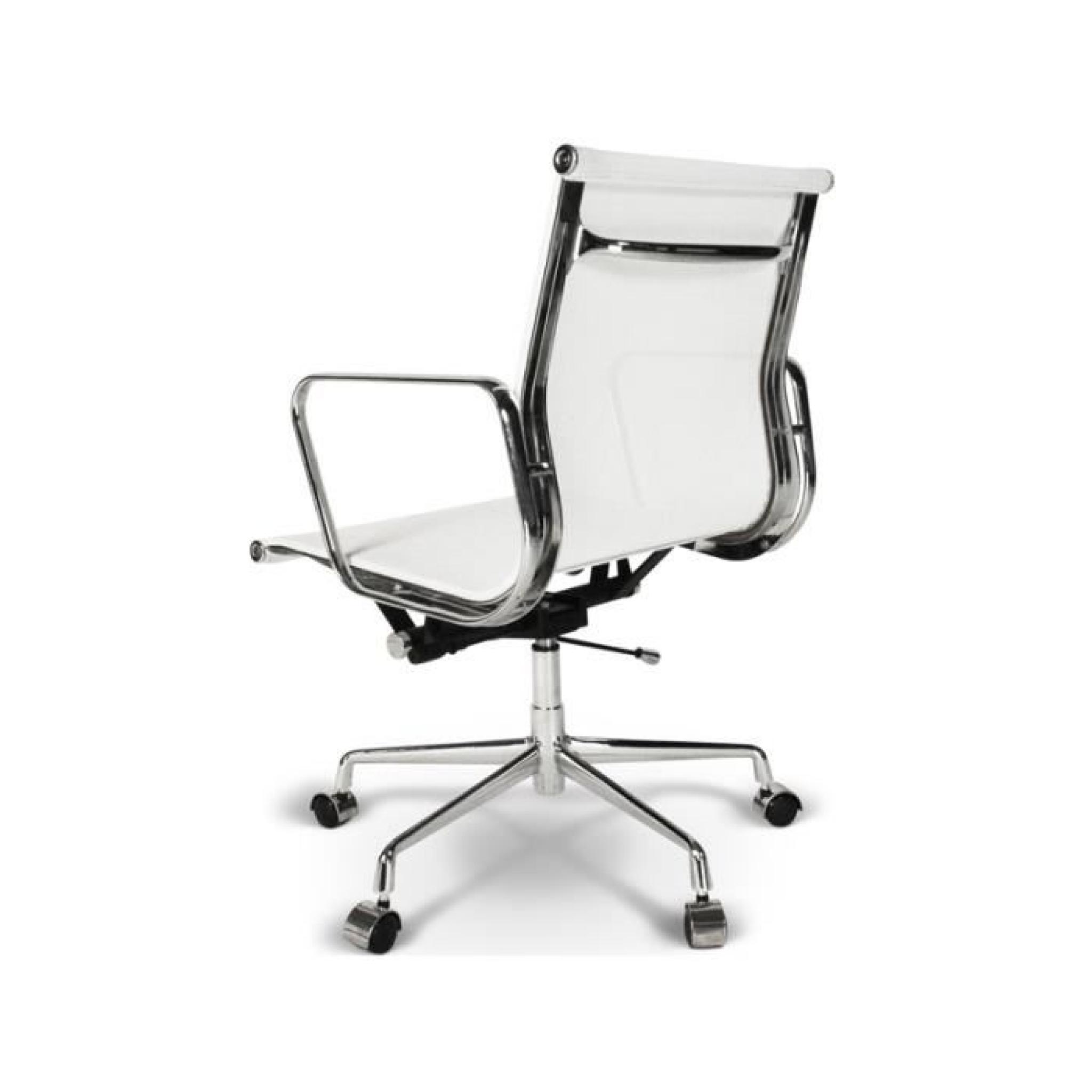 chaise eames alu ea117 blanc achat vente chaise salle a manger pas cher couleur et. Black Bedroom Furniture Sets. Home Design Ideas
