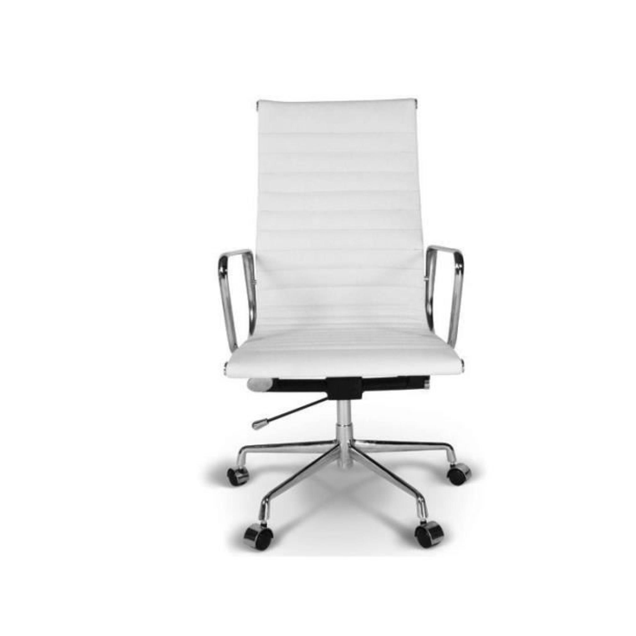 chaise eames alu ea119 blanc achat vente chaise salle a manger pas cher couleur et. Black Bedroom Furniture Sets. Home Design Ideas