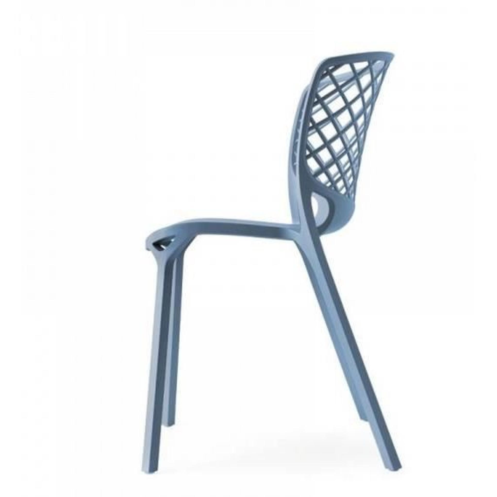 chaise empilable gamera de calligaris bleu ciel achat vente chaise salle a manger pas cher. Black Bedroom Furniture Sets. Home Design Ideas
