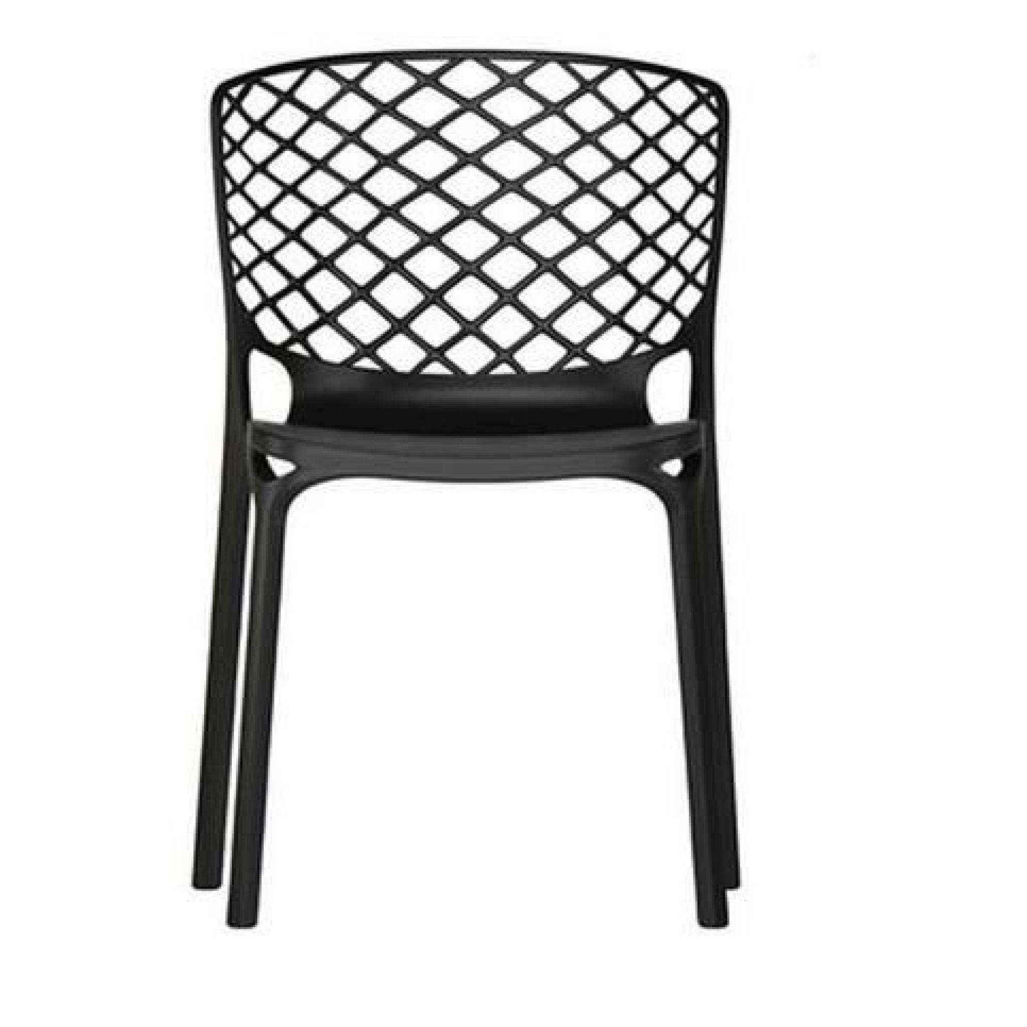 Chaise empilable gamera de calligaris noire achat vente for Chaise salle a manger noir pas cher