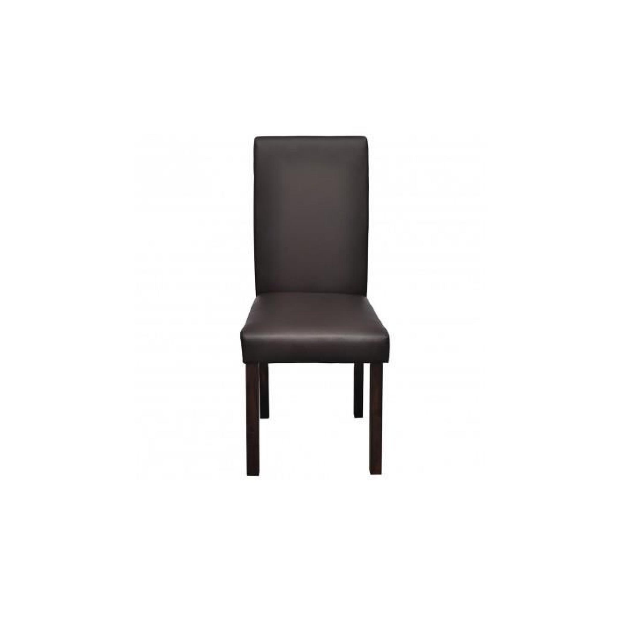 Chaise en cuir design colonial marron bois lot de achat - Chaises en cuir design ...