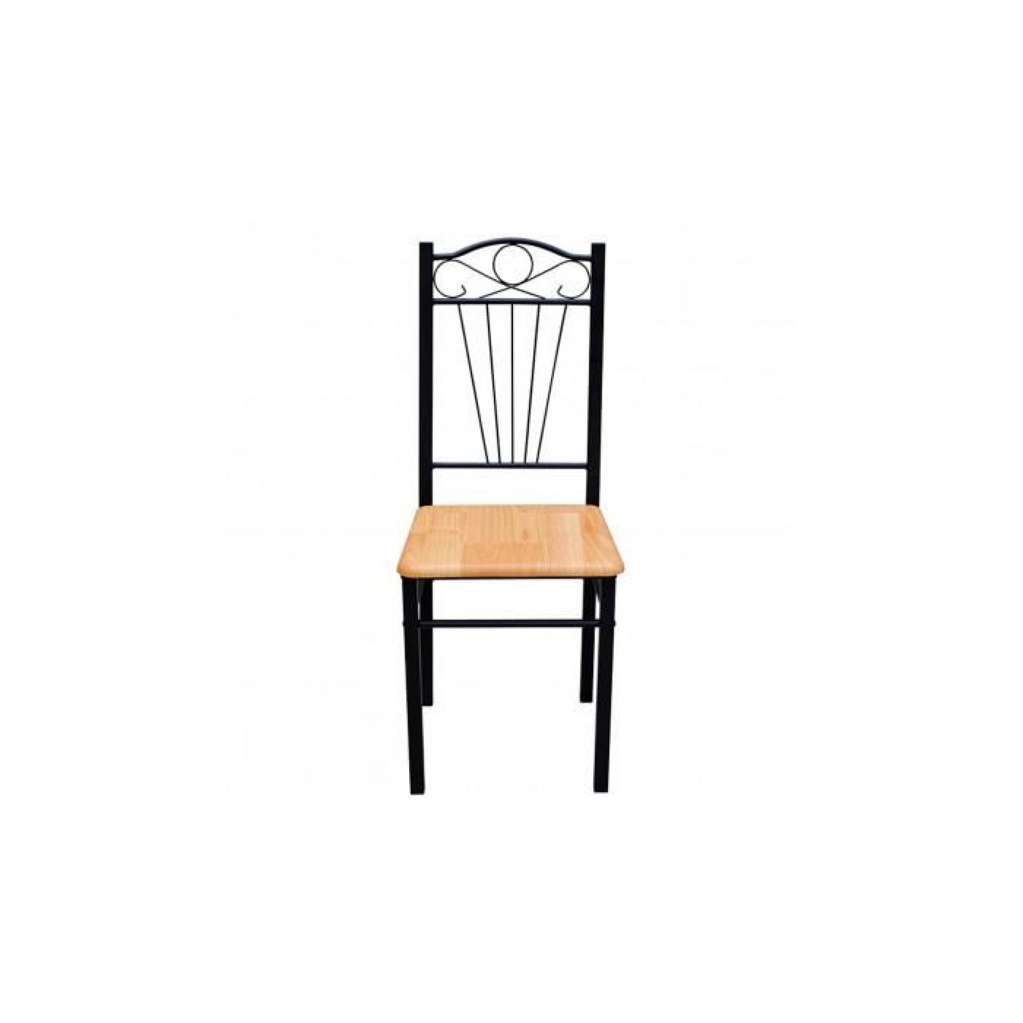 Chaise en mdf lot de 2 achat vente chaise salle a for Lot de 8 chaise pas cher
