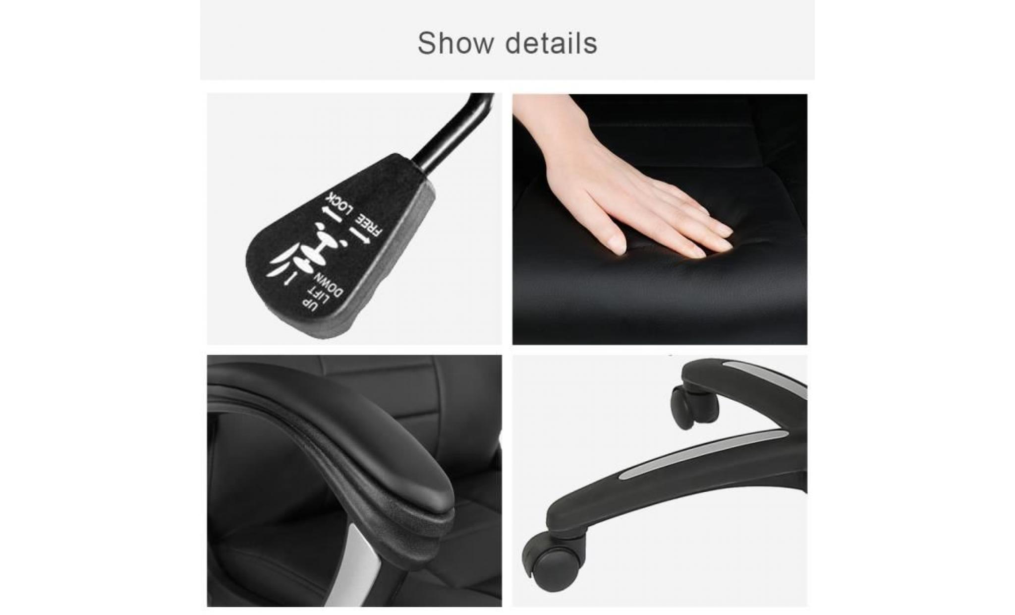 × bureau pivotante bien de rémbourré chaise fauteuil l49 chaise noir cm p52 réglable xrdBeCo