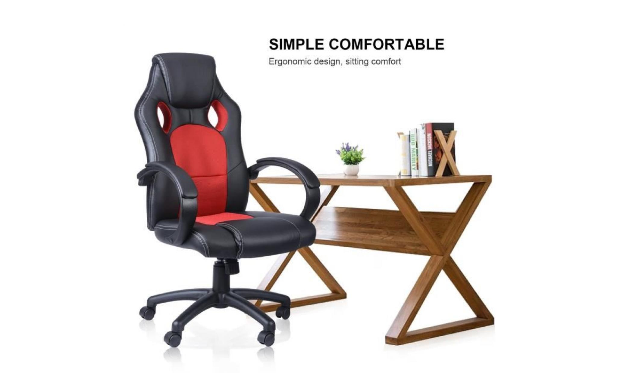 revendeur 20374 1d36d chaise gamer noir et rouge gaming