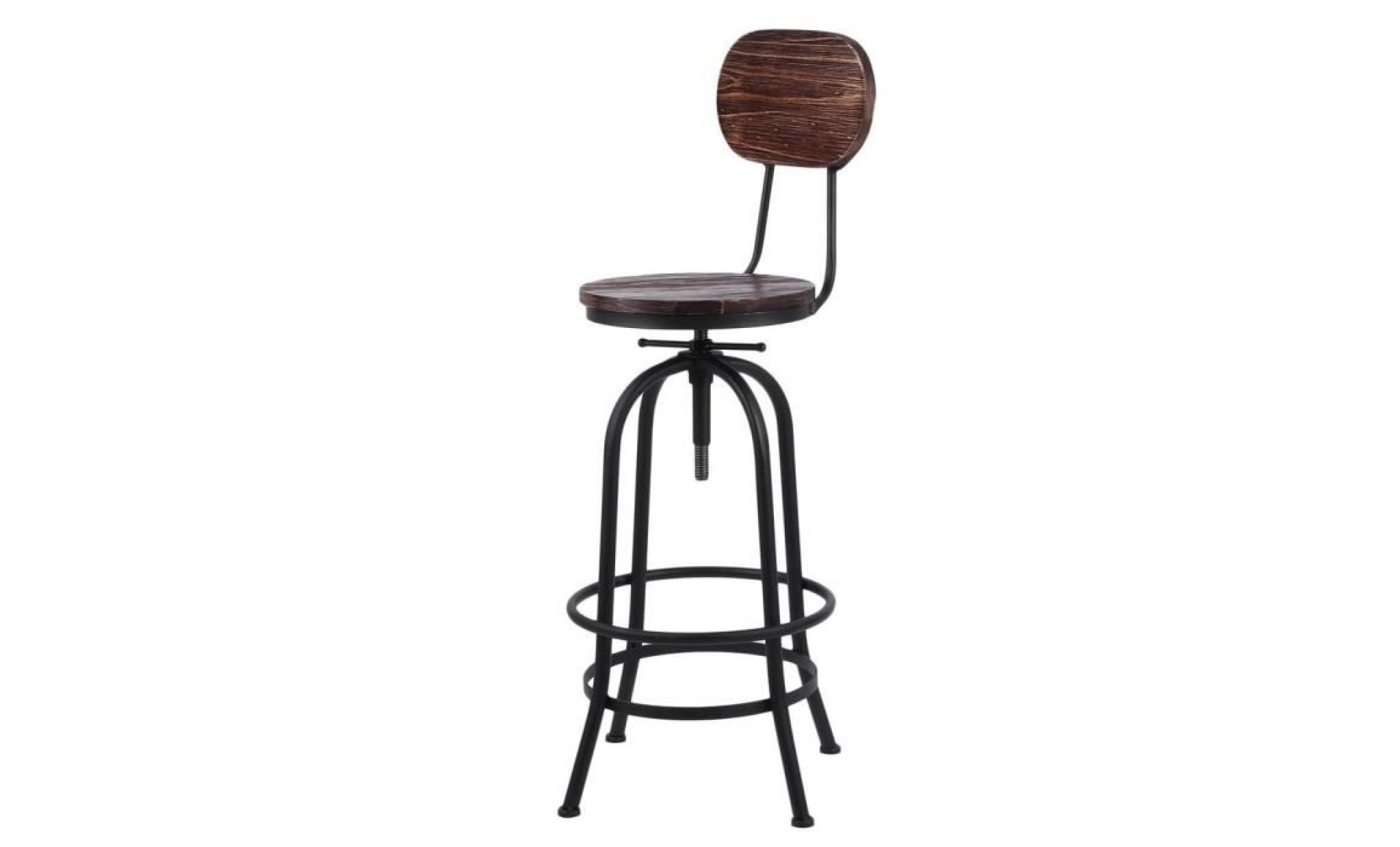 Chaise Haute Moderne Tabouret De Bar Style Industriel