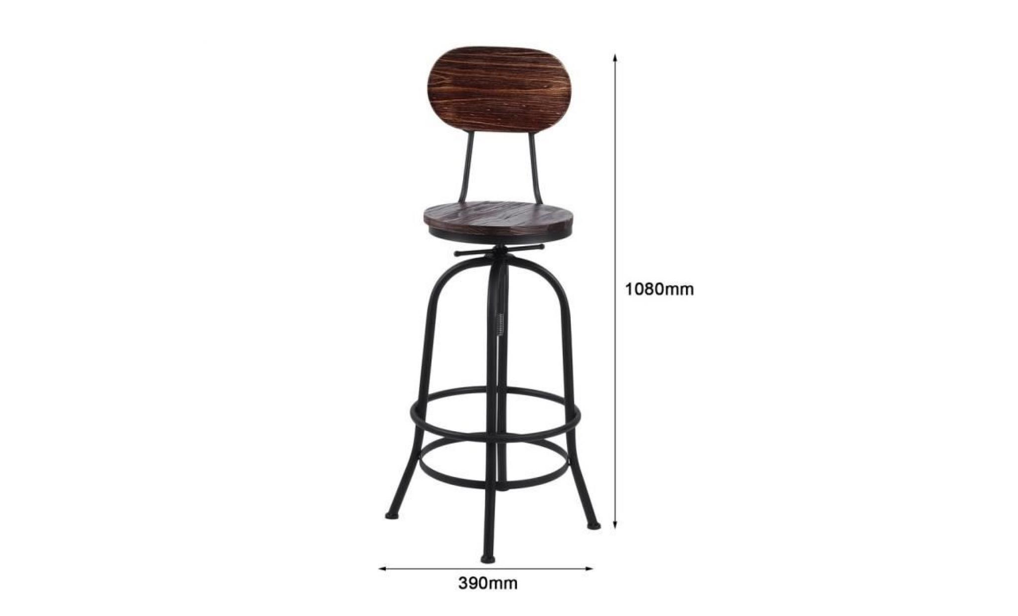 Moderne De Industriel Style Haute Tabouret Bar Chaise orEdWxBeQC