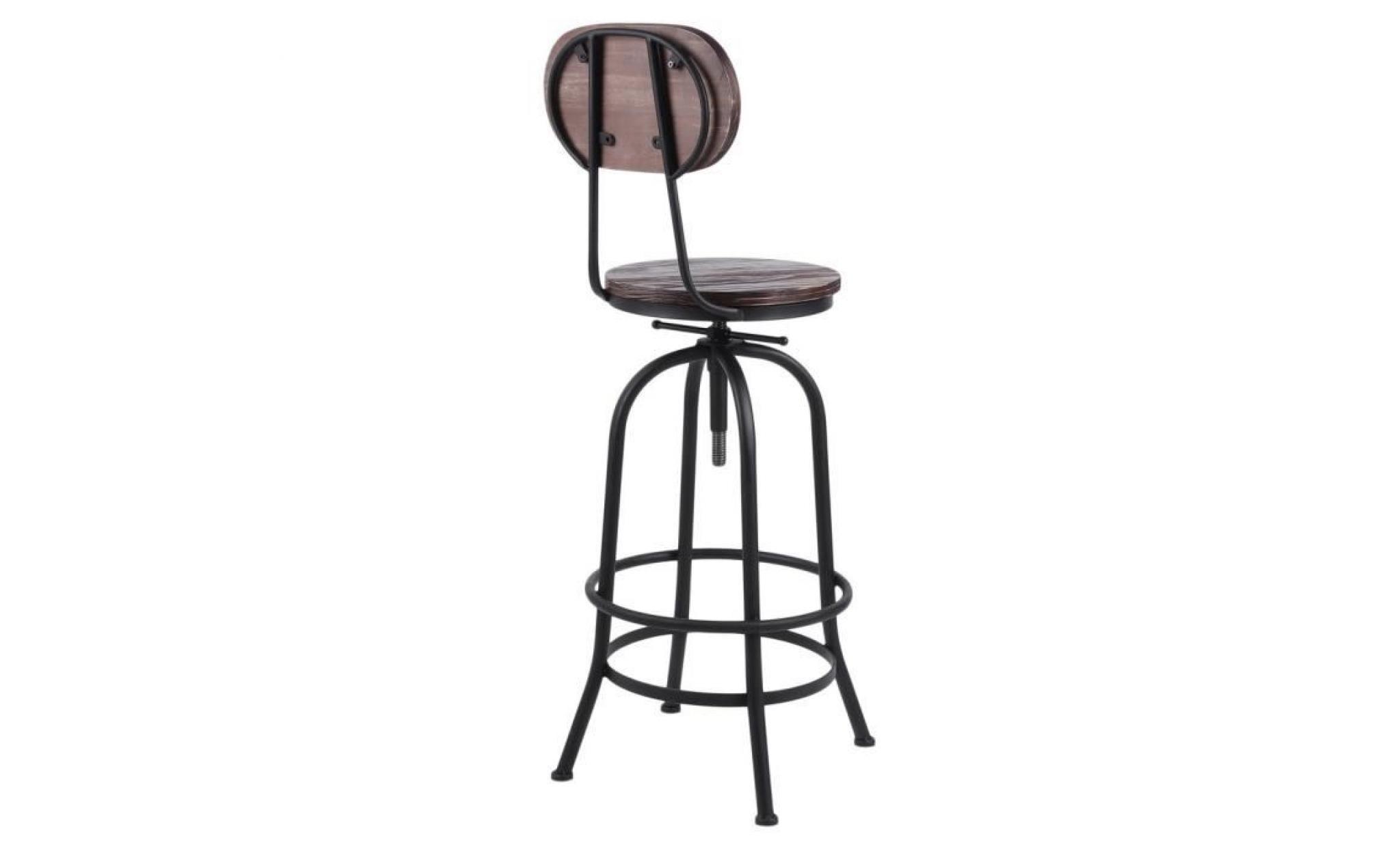Chaise Haute Tabouret De Bar Moderne Industrielle