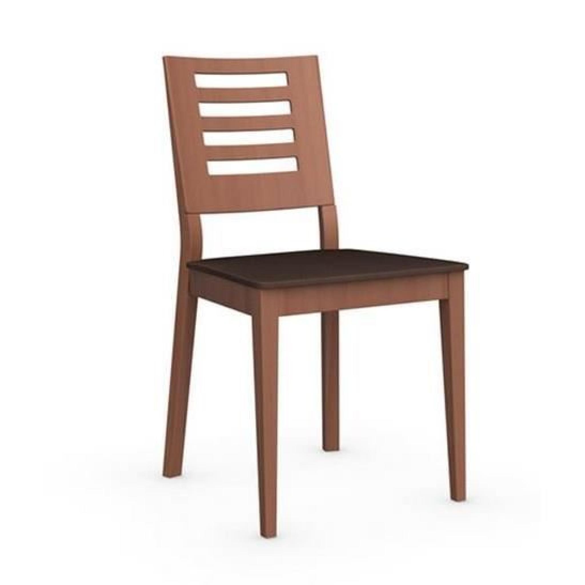 Chaise italienne STYLE de CALLIGARIS structure merisier plusieurs choix de coloris