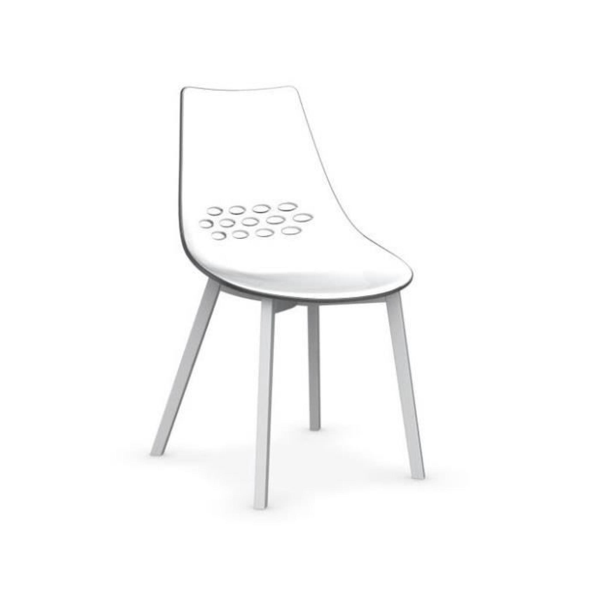 Chaise Jam W De Calligaris Transparente Pietement Blanc Optique