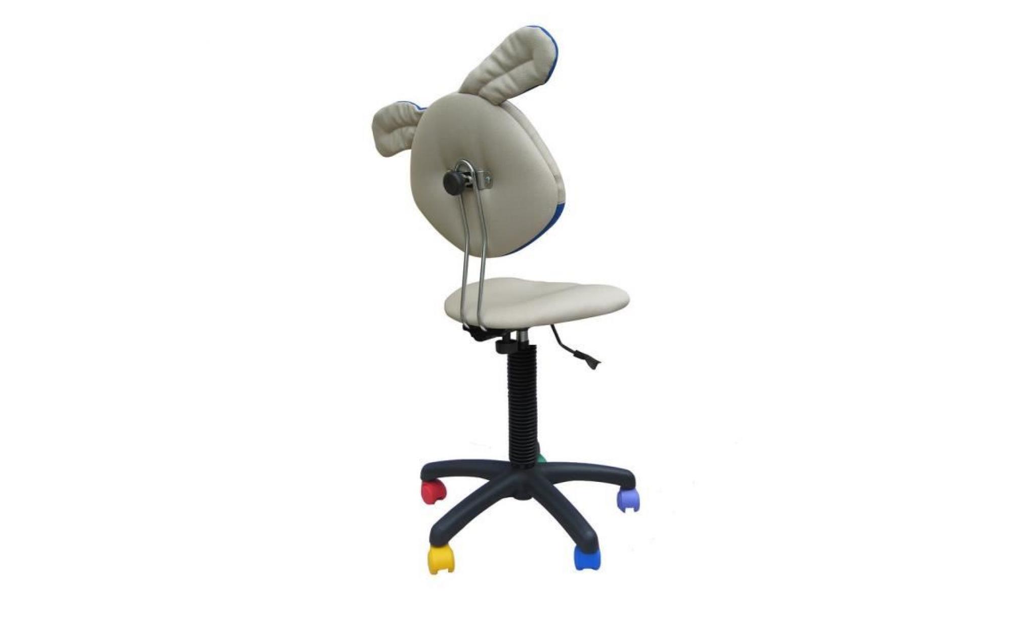 design intemporel fba06 5afe7 chaise jouet chien, fauteuil de bureau enfant. beige. rouge