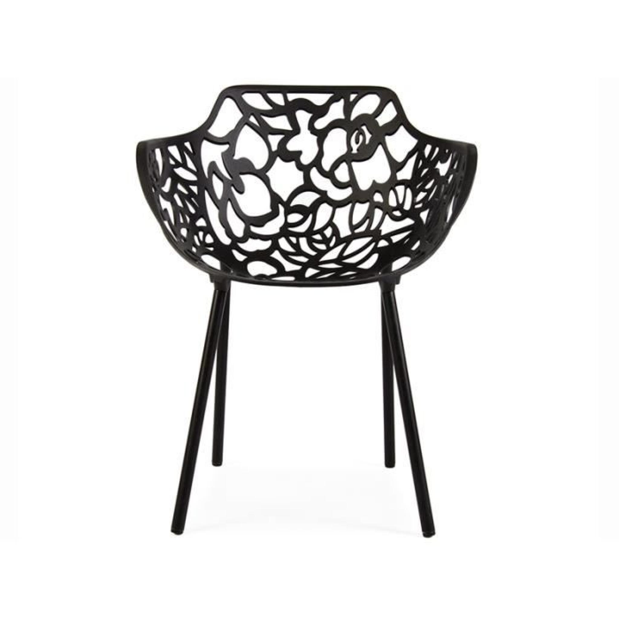 Chaise Lilly - Noir pas cher