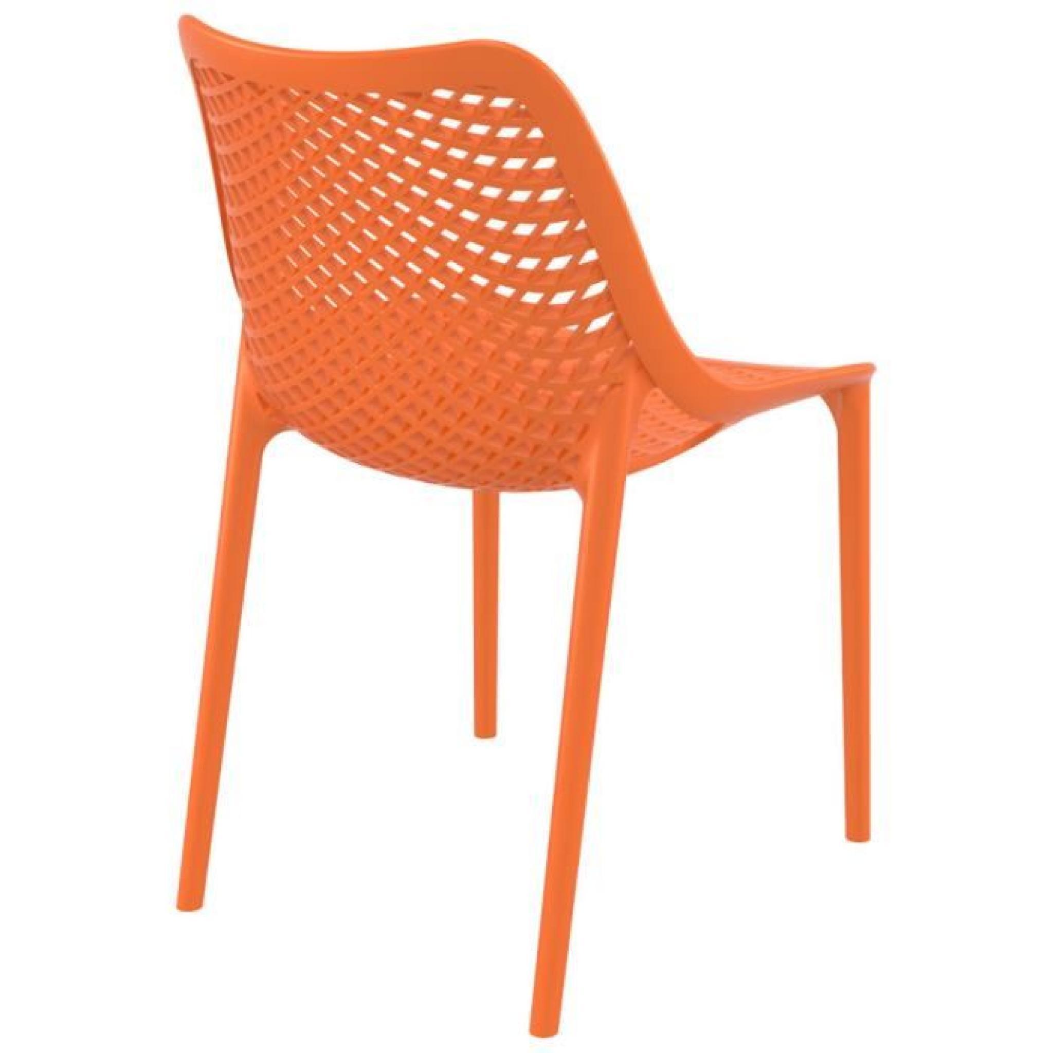 Chaise Moderne Pas Cher.Chaise Moderne Blow Orange En Matiere Plast