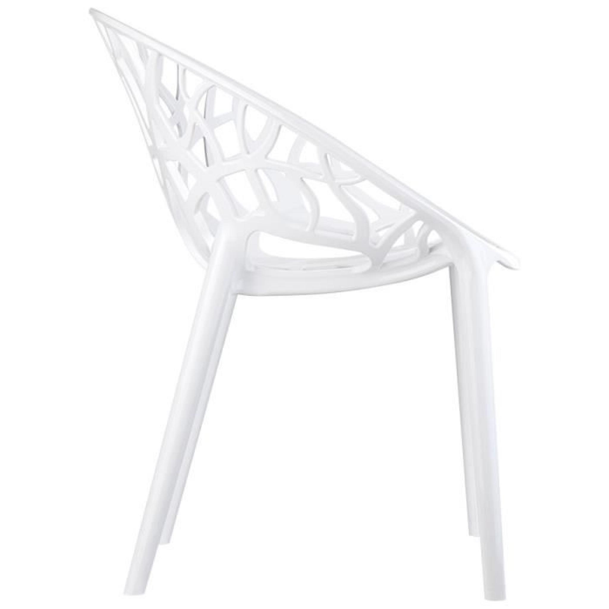 Chaise Moderne Geo Blanche En Polycarbonate