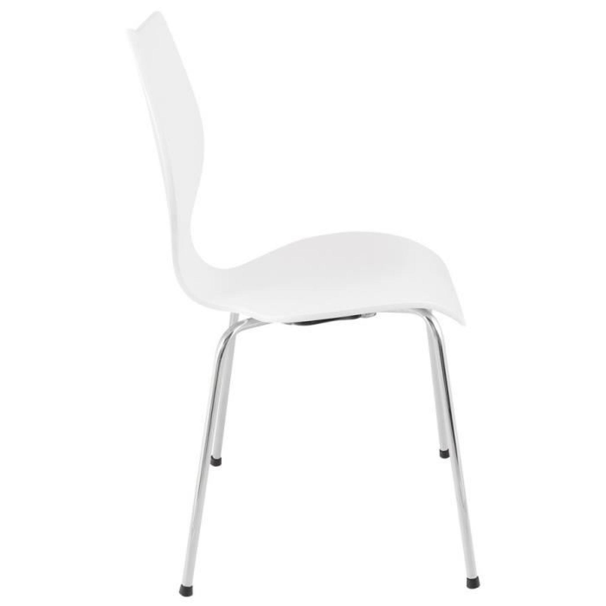 chaise moderne pour cuisine salle manger ascot en bois peint blanc pas - Chaise Moderne Pas Cher