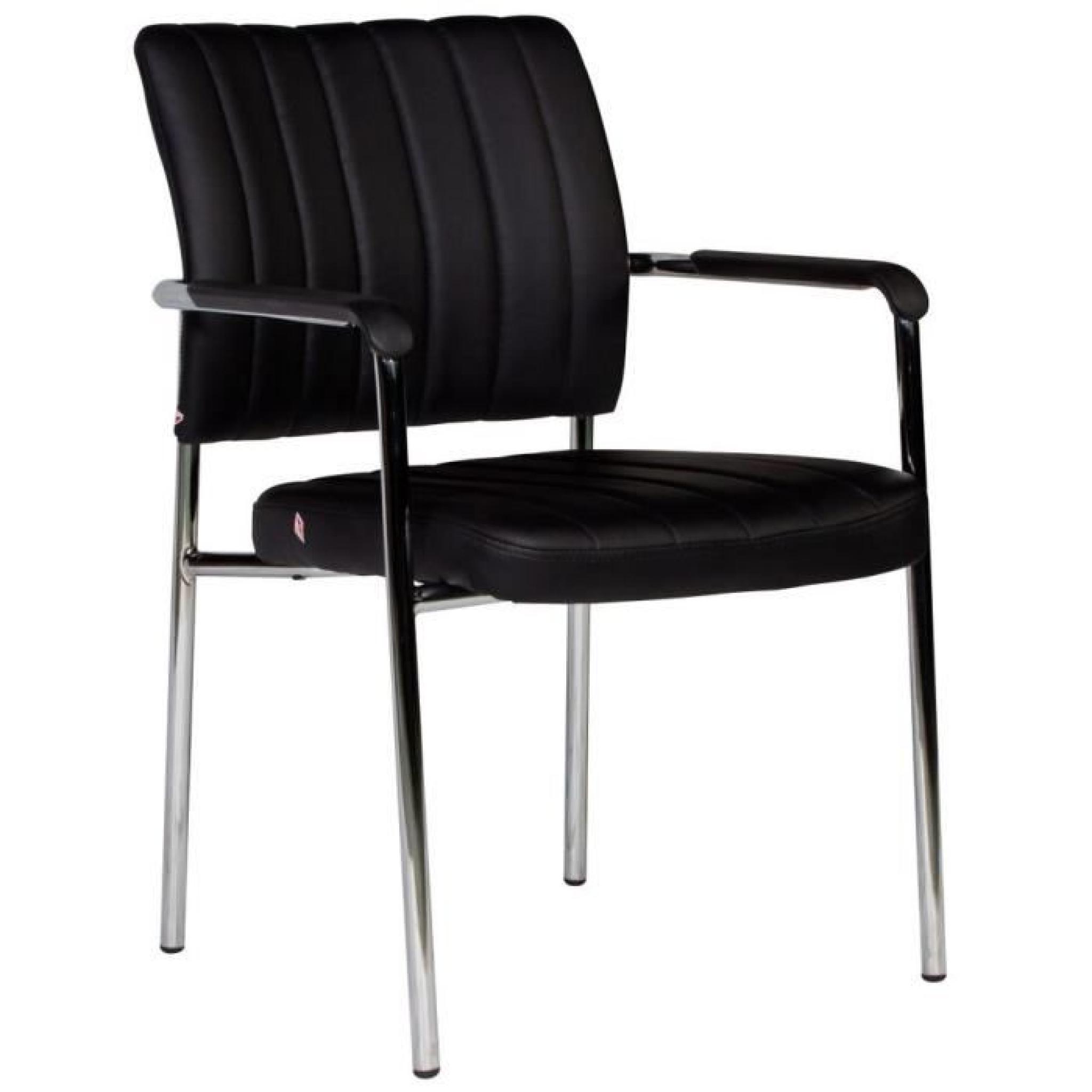 Chaise Noire Ultra Moderne Avec Accoudoirs Pas Cher