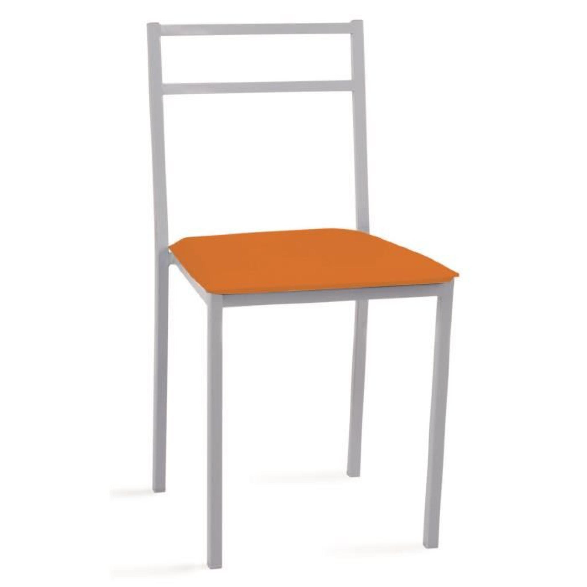 Chaise Orange Metalique 420 X 475 X 810 Mm Achat Vente