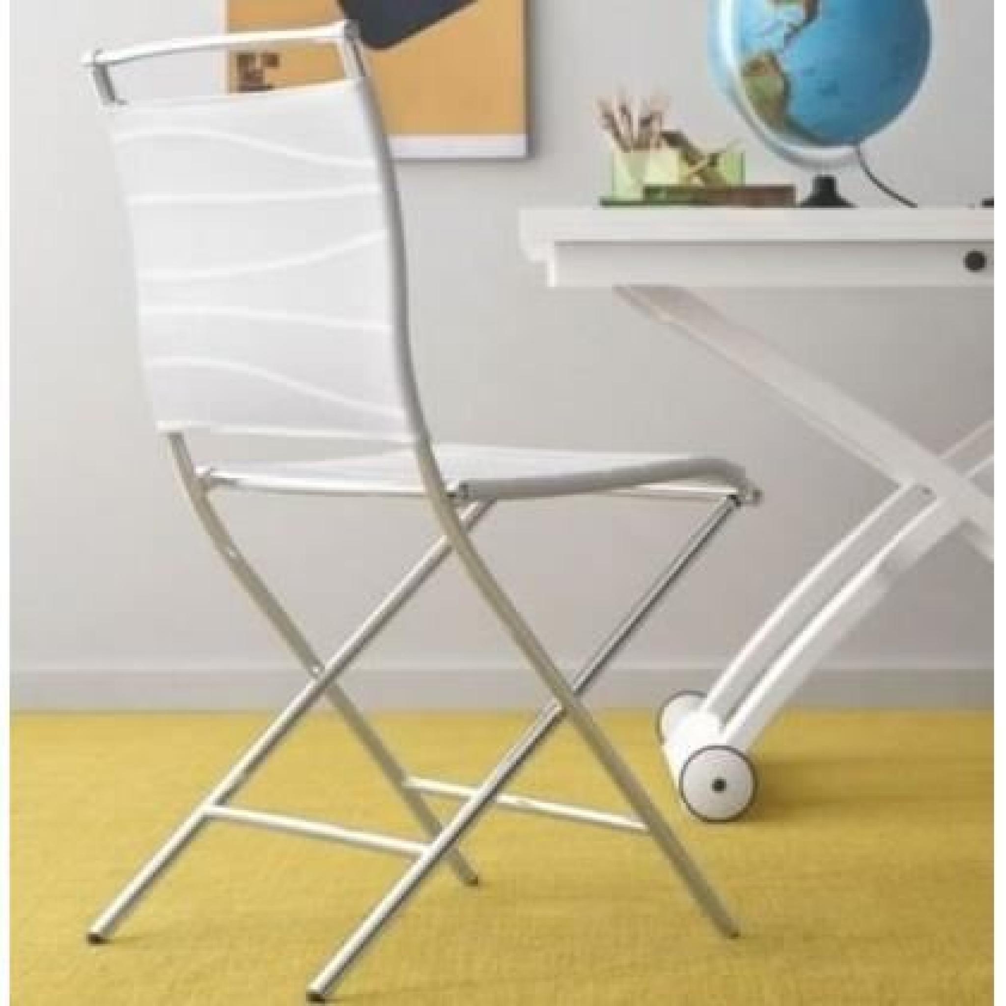 Chaise Pliante Design AIR FOLDING Blanche Et Ac Pas Cher