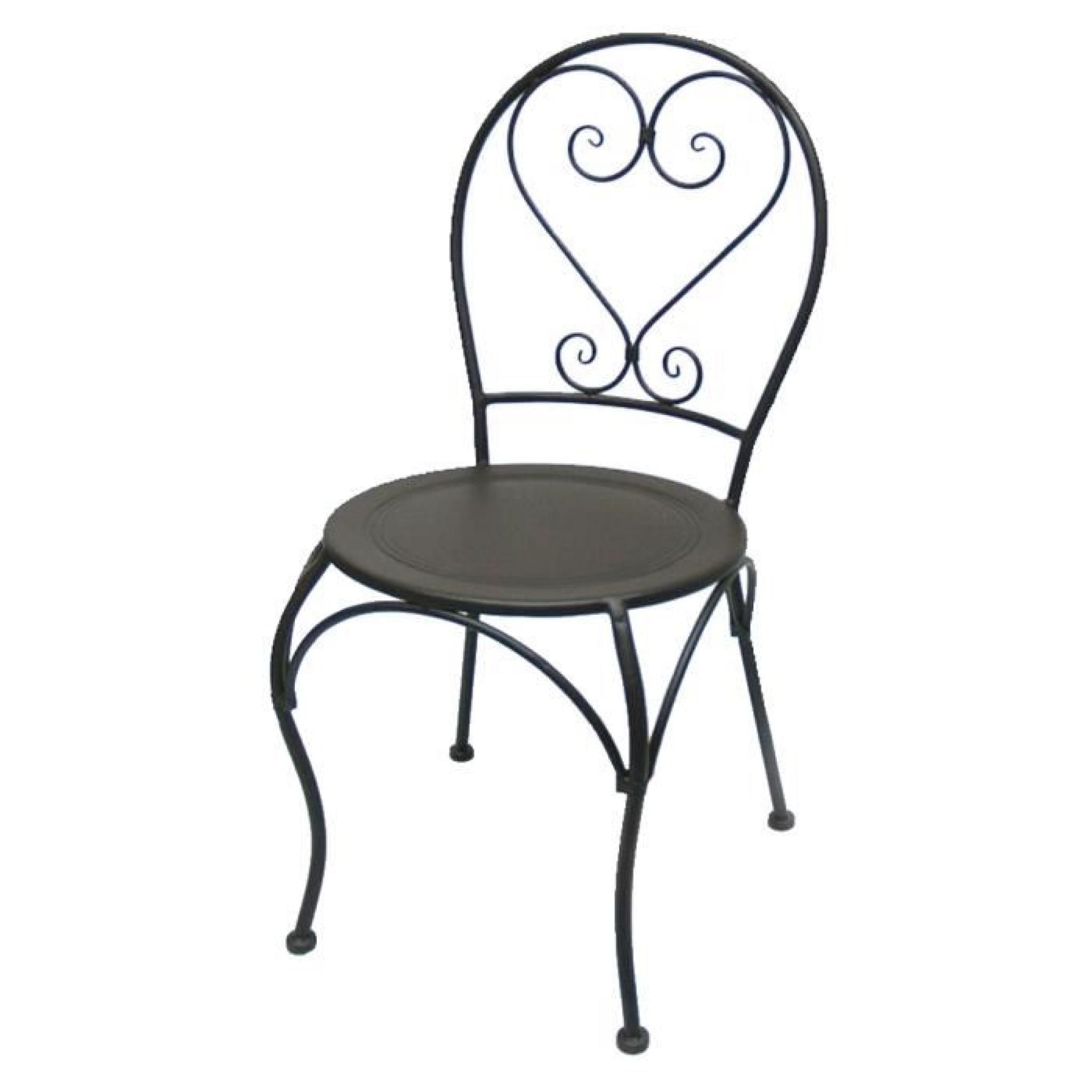 CHAISE RONDE EN FER FORGE CHARME