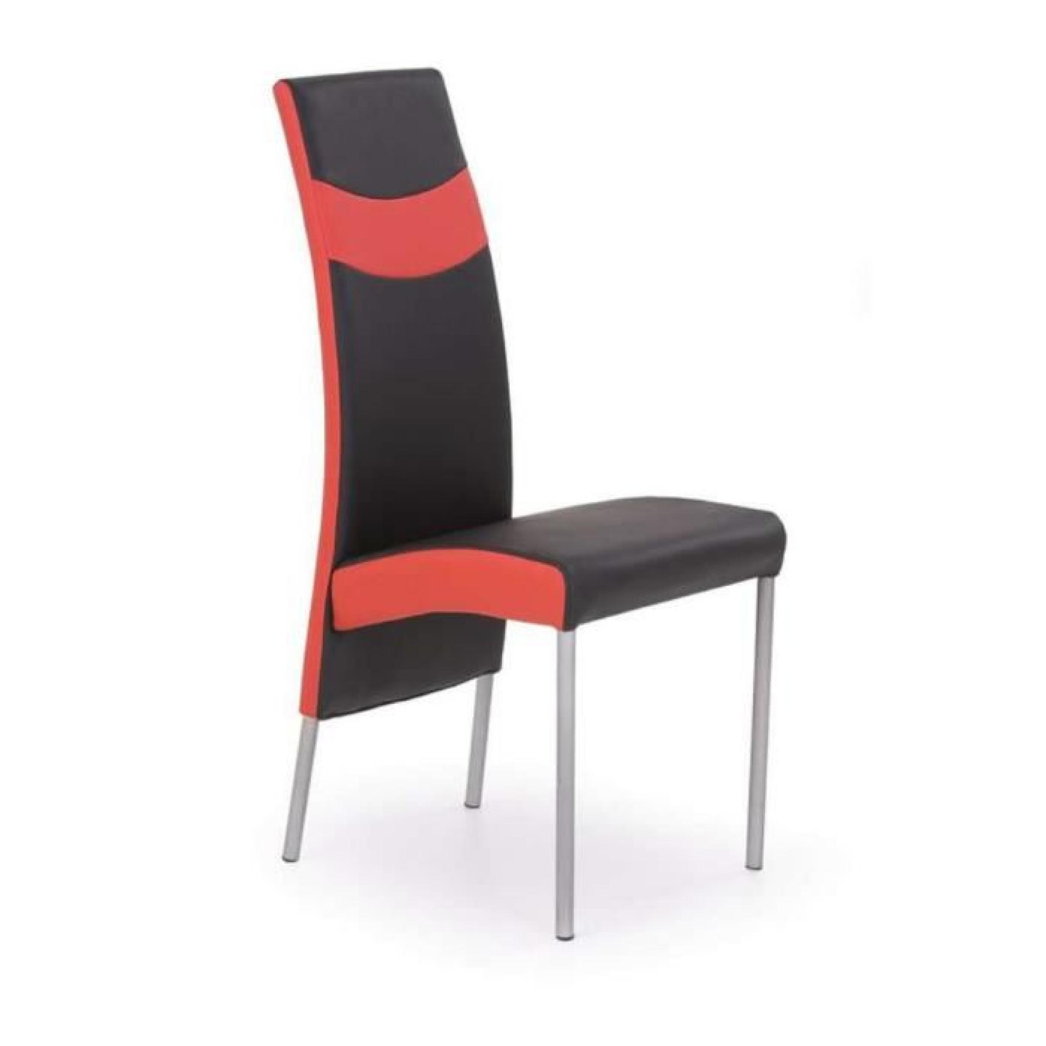 chaise salle a manger rouge design