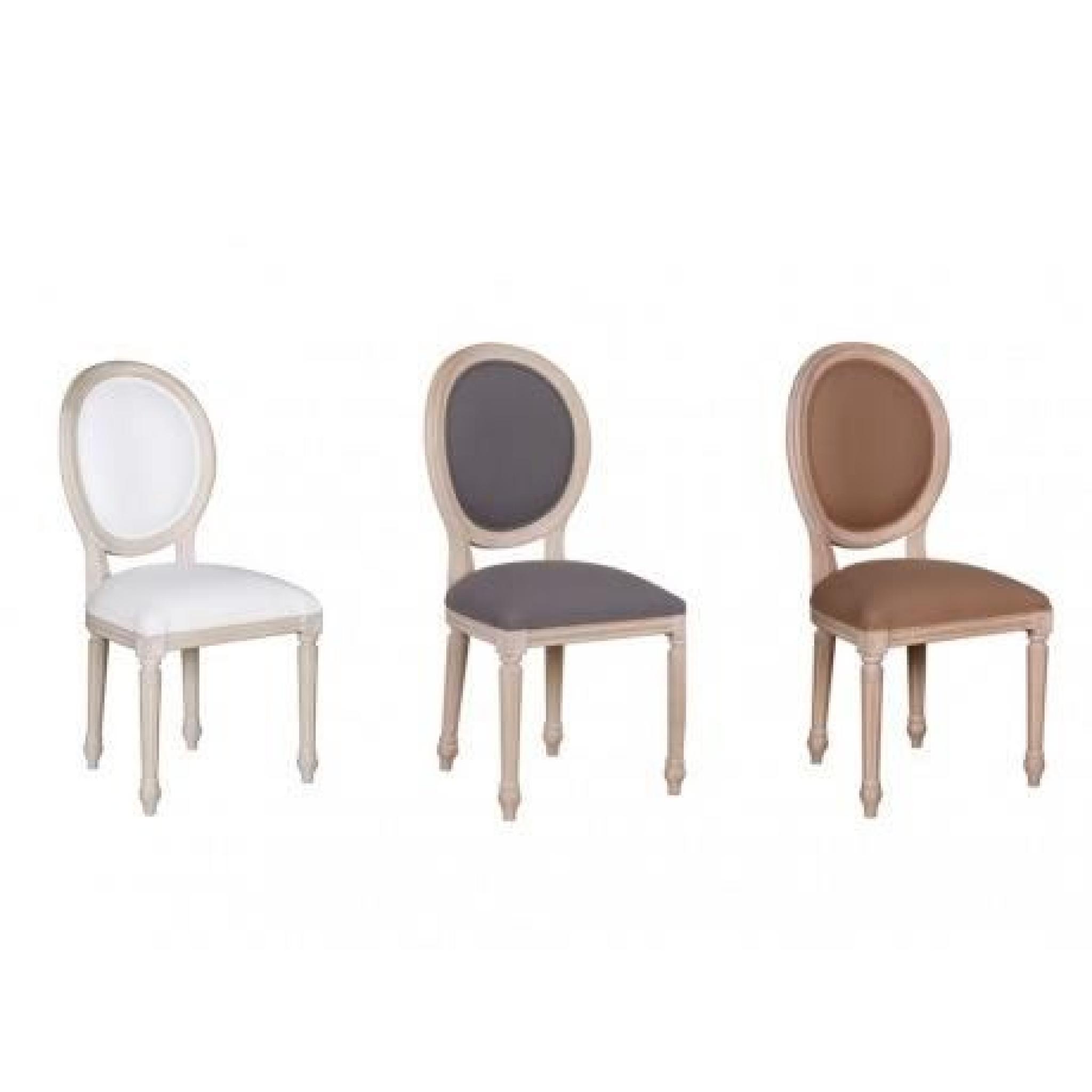 Chaise tessy bois de manguier effet c rus et tissu for Meuble ceruse blanc technique