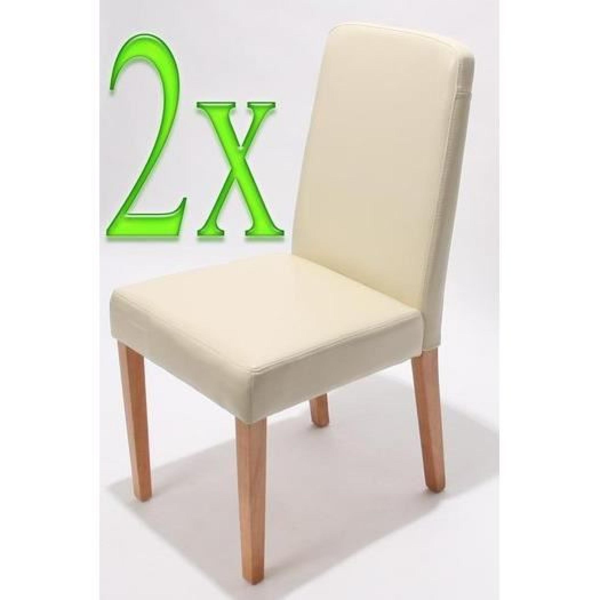 Chaises de salle manger lot de 2 ancona cr me achat for Chaise salle a manger couleur