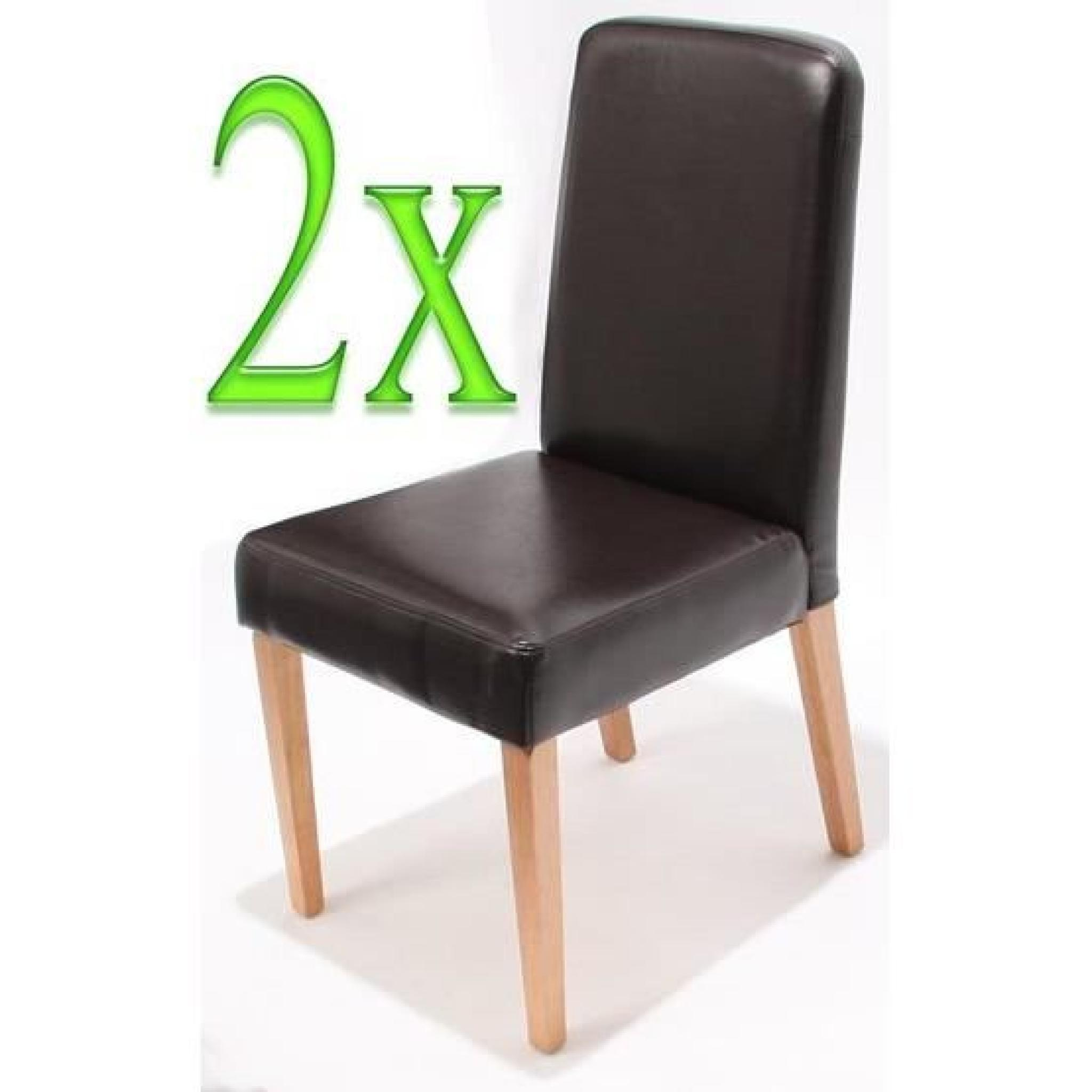 chaises de salle manger lot de 2 ancona cr me achat vente chaise salle a manger pas cher. Black Bedroom Furniture Sets. Home Design Ideas