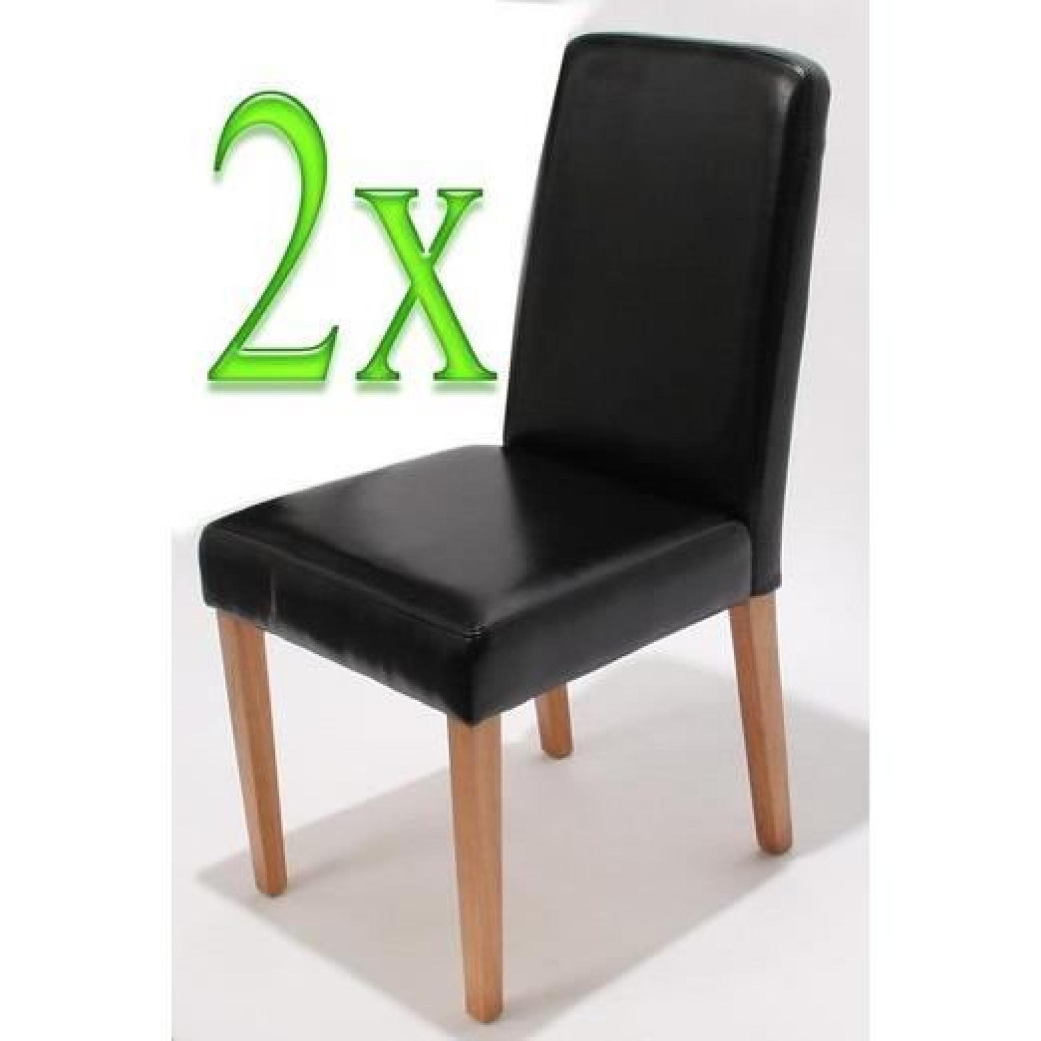 chaises de salle manger lot de 2 ancona cr me achat. Black Bedroom Furniture Sets. Home Design Ideas