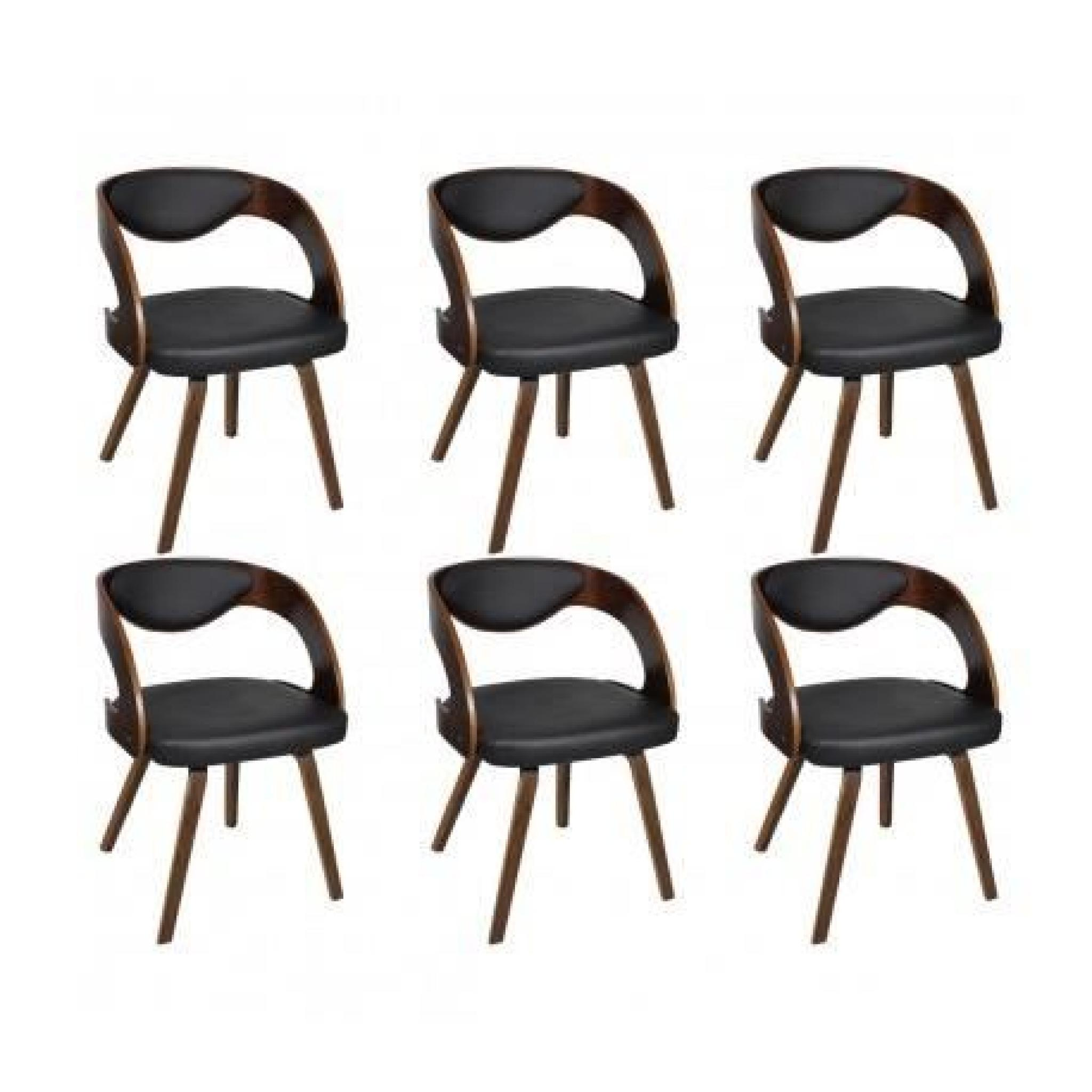 Chaises design de salon salle manger marron x4 maja for Chaise de salon design pas cher
