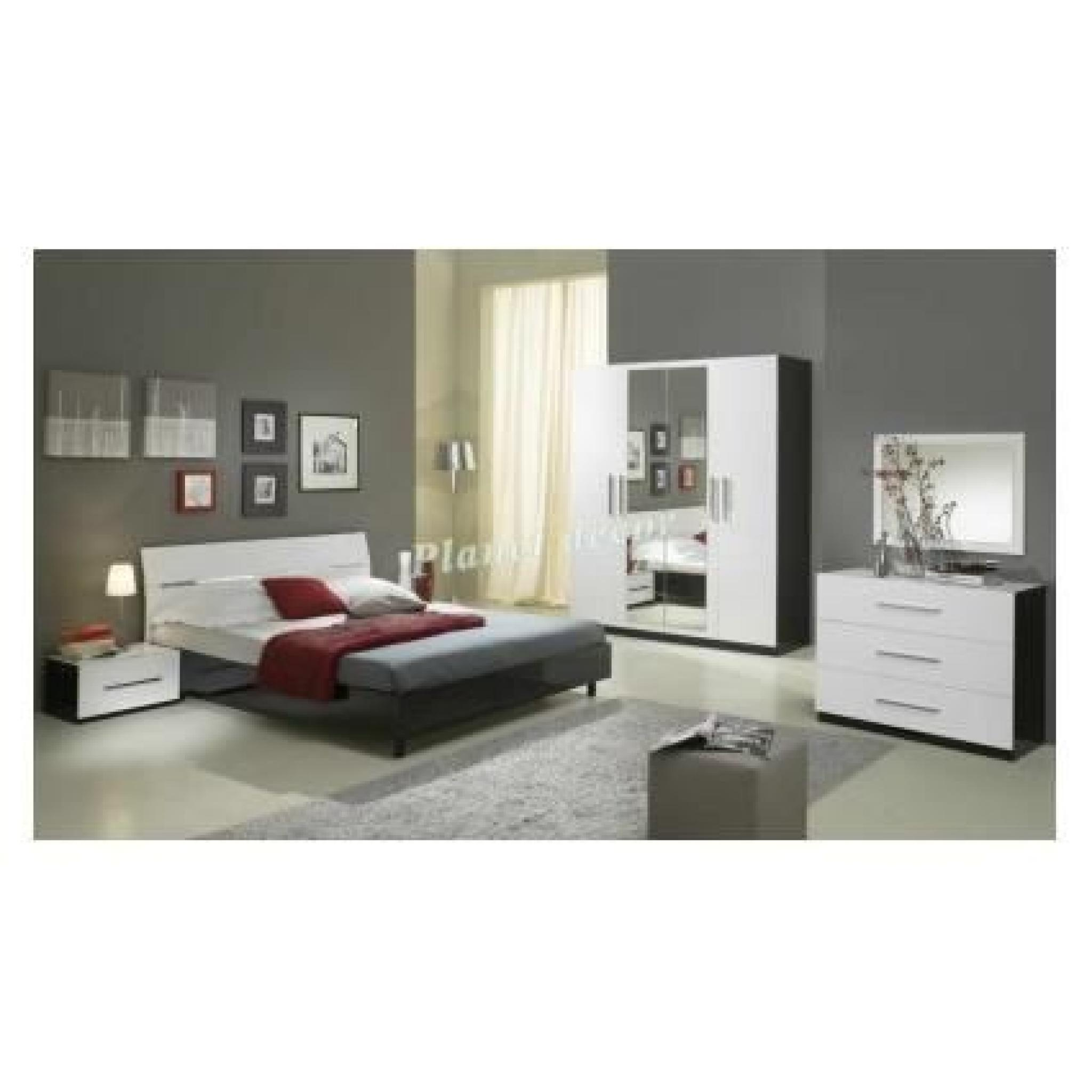 chambre coucher complete model gloria armoire 4 portes. Black Bedroom Furniture Sets. Home Design Ideas